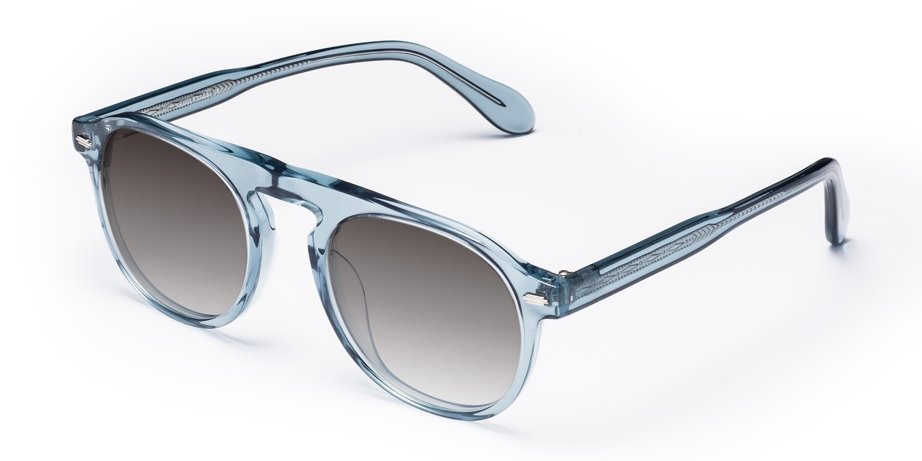 Angle of Mufasa in Light Blue with Gray Gradient Lenses