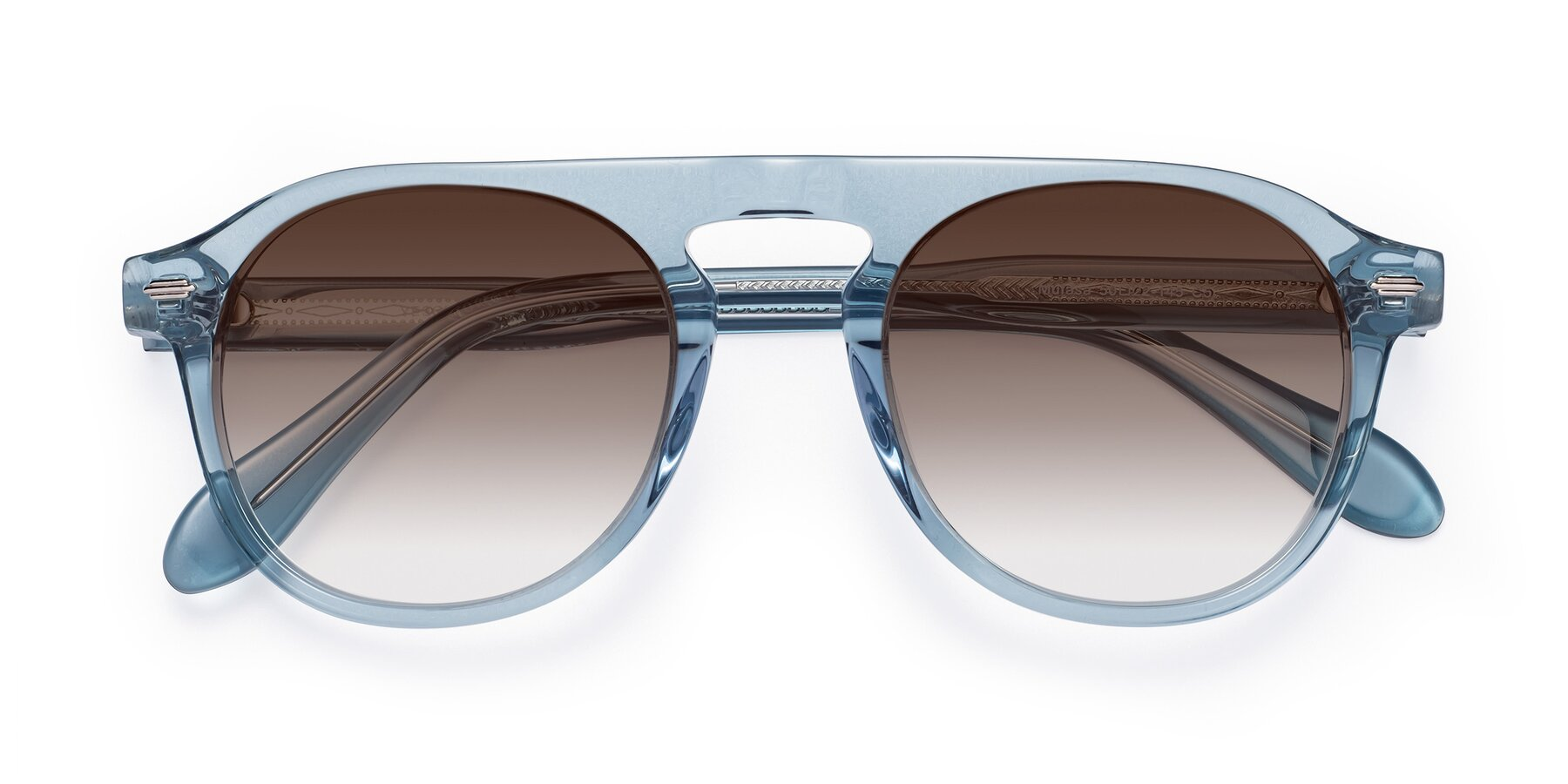Folded Front of Mufasa in Light Blue with Brown Gradient Lenses