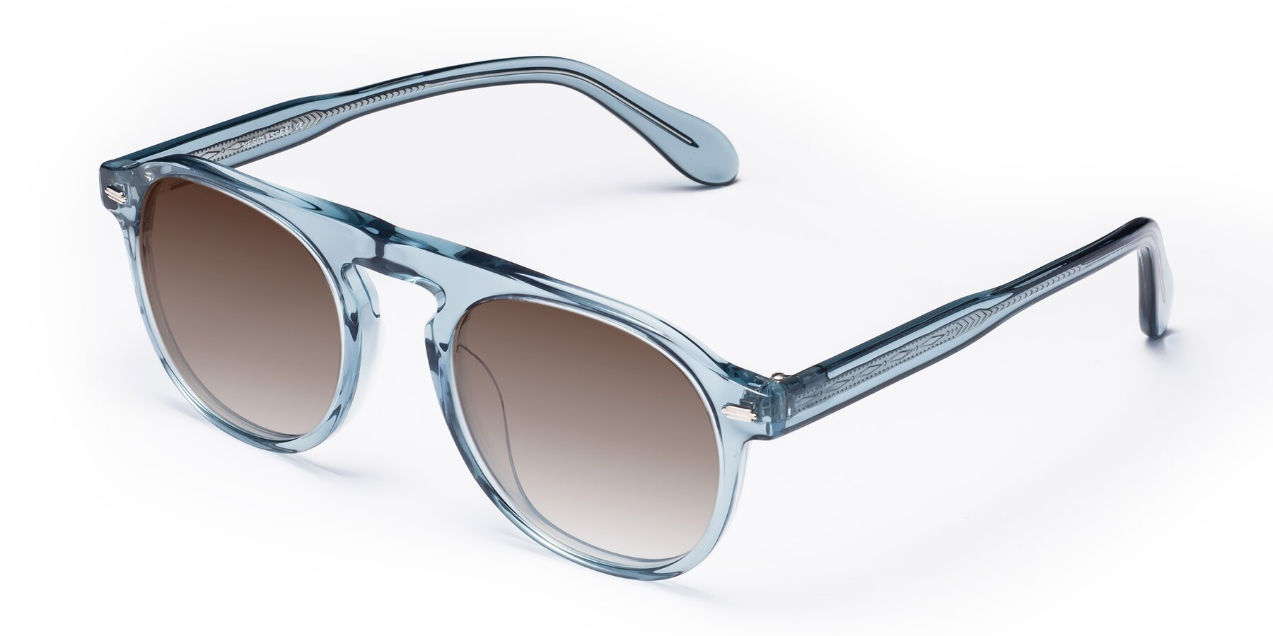 Angle of Mufasa in Light Blue with Brown Gradient Lenses