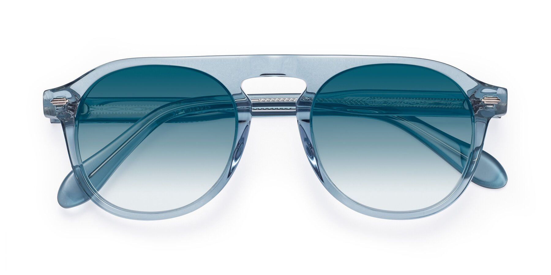 Folded Front of Mufasa in Light Blue with Blue Gradient Lenses