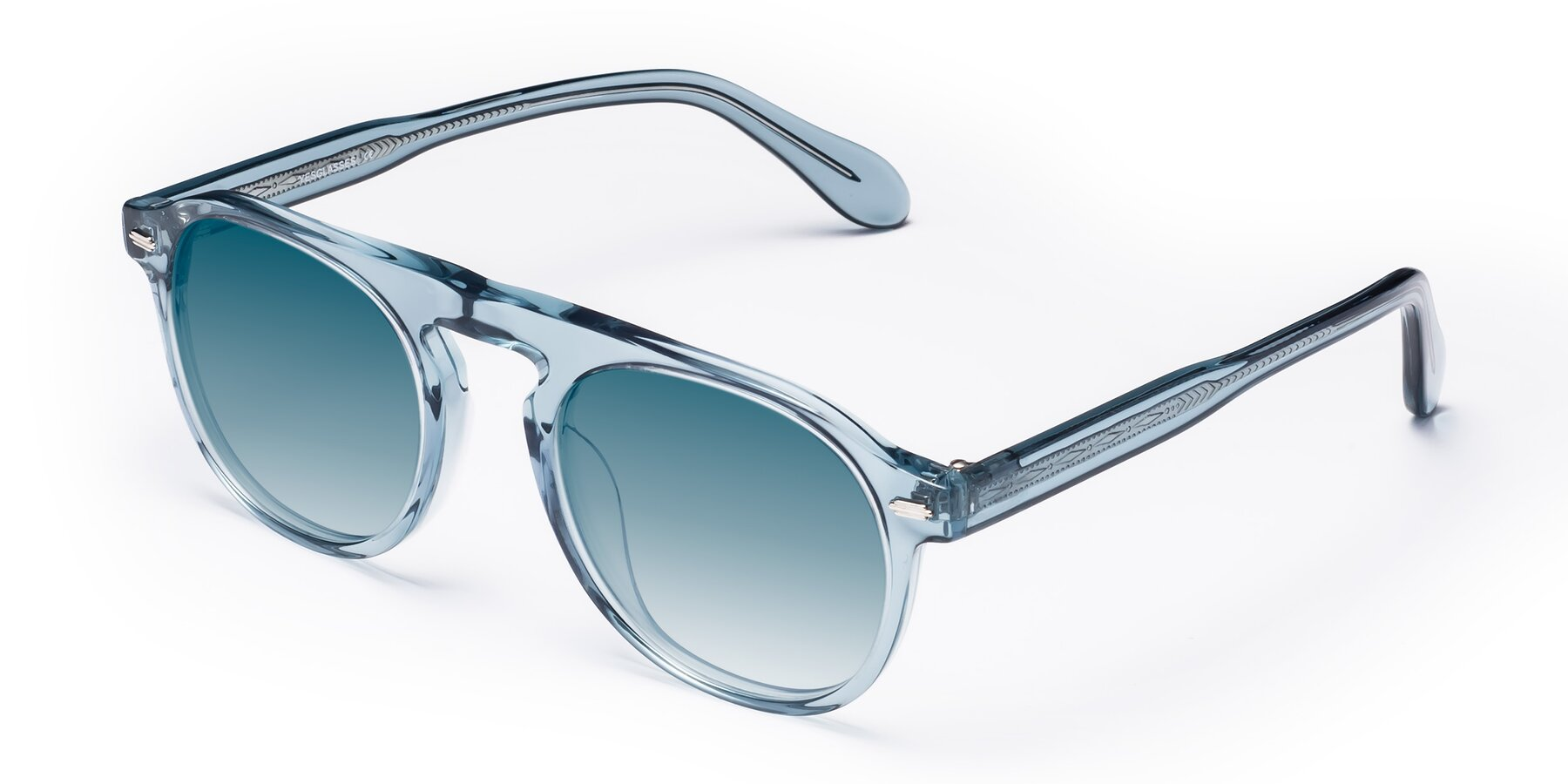 Angle of Mufasa in Light Blue with Blue Gradient Lenses