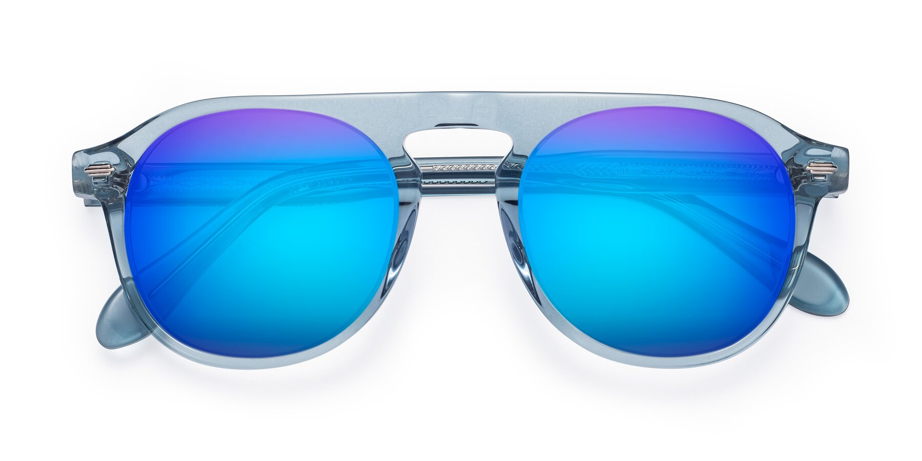 Folded Front of Mufasa in Light Blue with Blue Mirrored Lenses