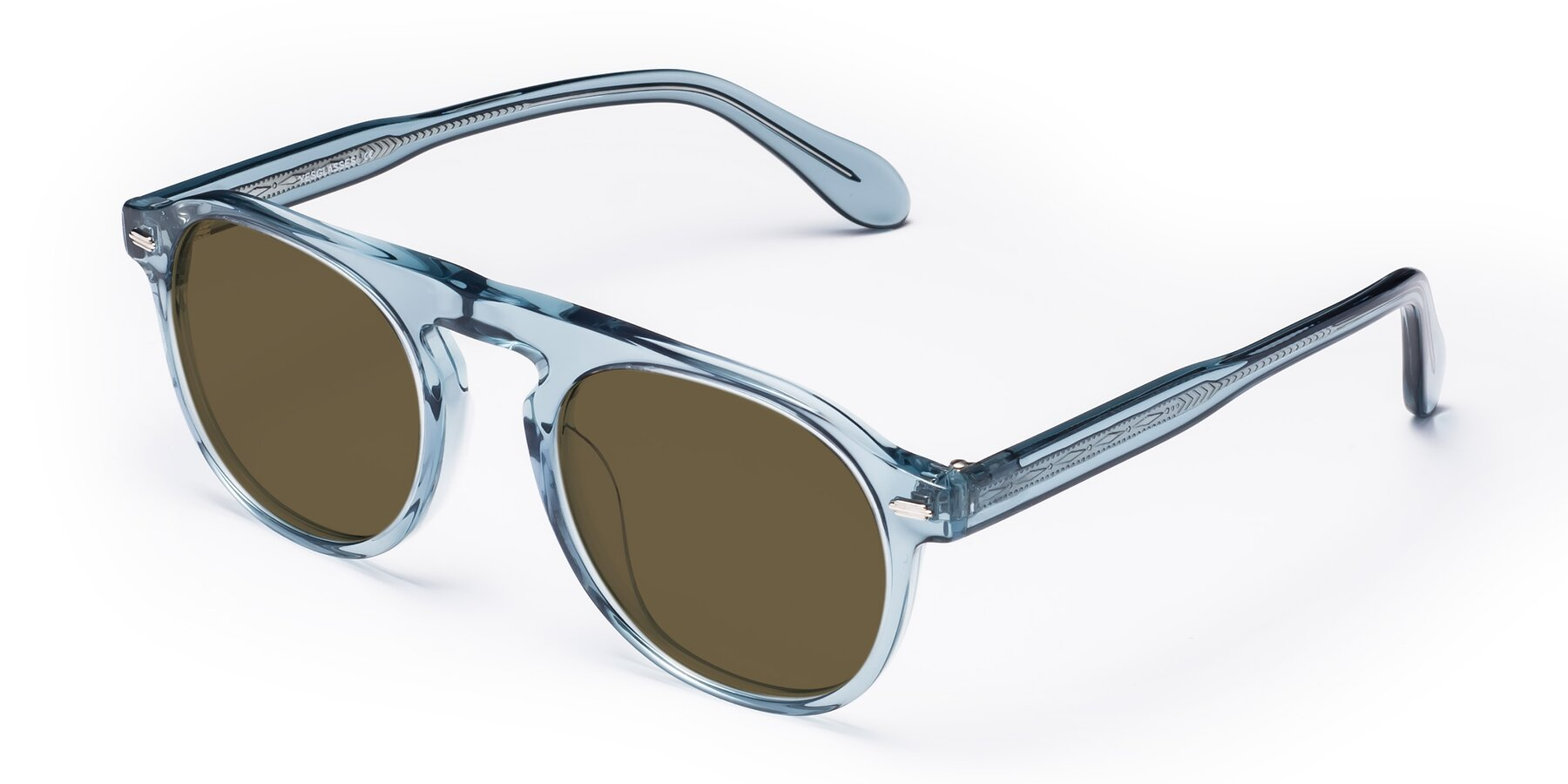 Angle of Mufasa in Light Blue with Brown Polarized Lenses