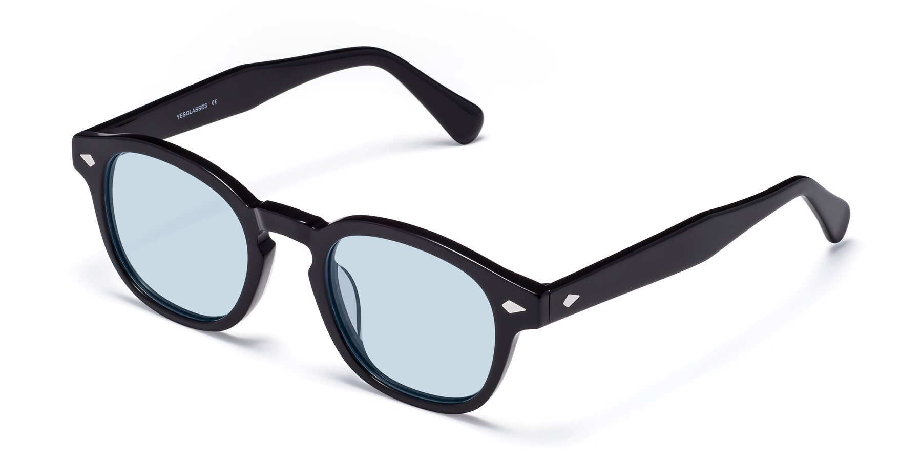 Angle of WALL-E in Black with Light Blue Tinted Lenses