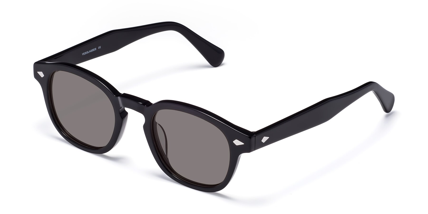 Angle of WALL-E in Black with Medium Gray Tinted Lenses