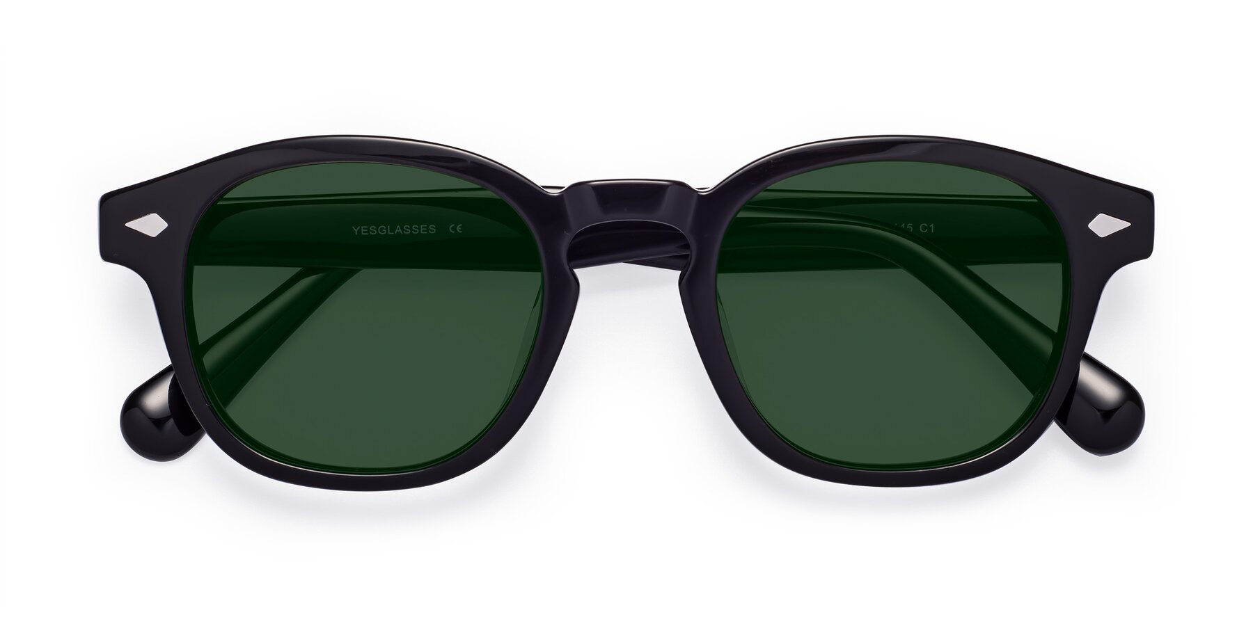 Folded Front of WALL-E in Black with Green Tinted Lenses