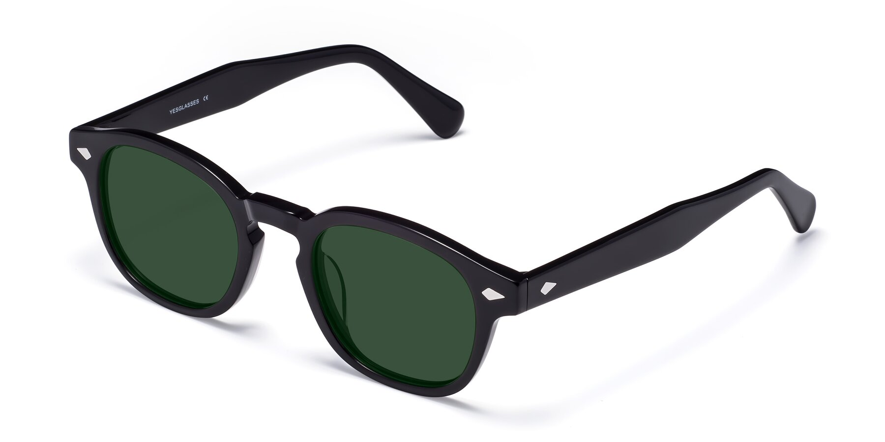 Angle of WALL-E in Black with Green Tinted Lenses