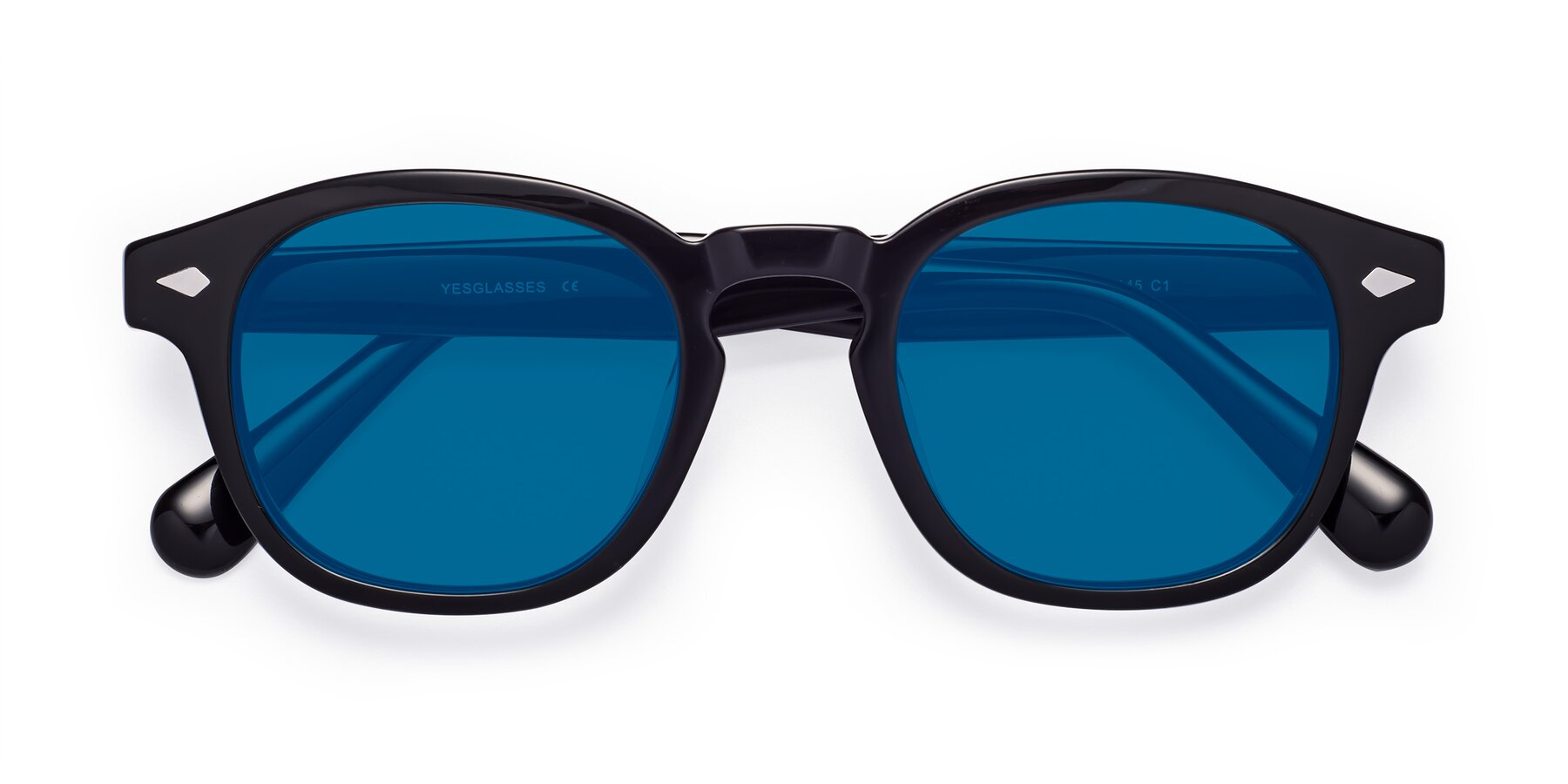 Folded Front of WALL-E in Black with Blue Tinted Lenses