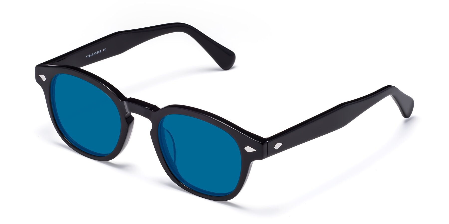 Angle of WALL-E in Black with Blue Tinted Lenses