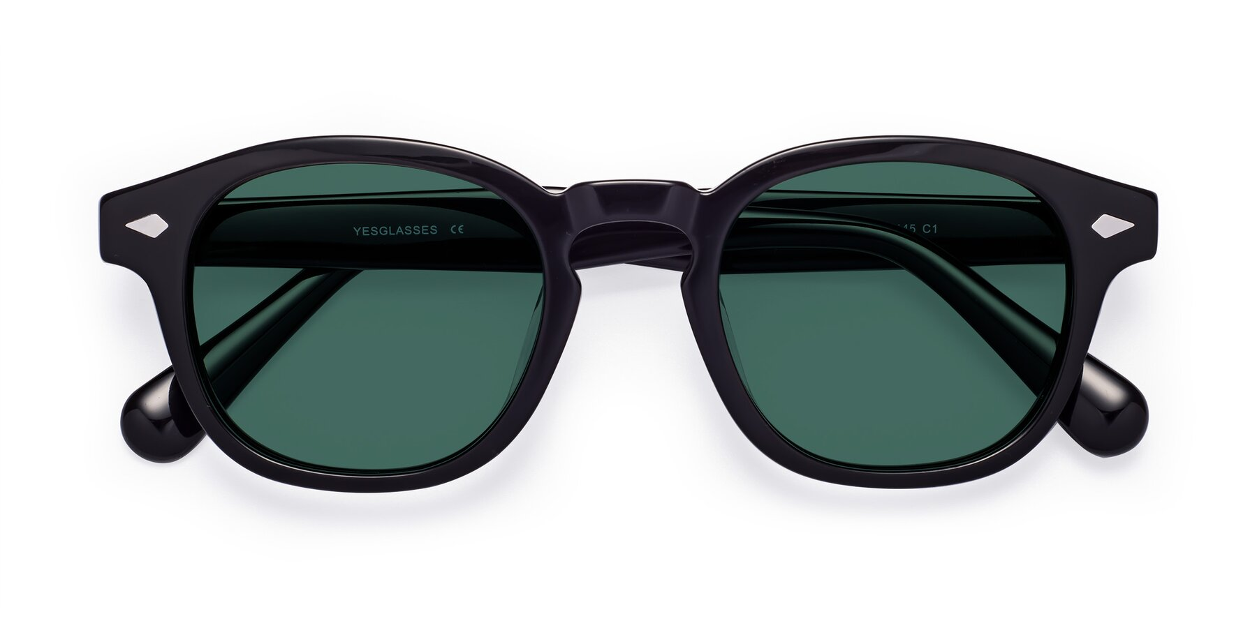 Folded Front of WALL-E in Black with Green Polarized Lenses