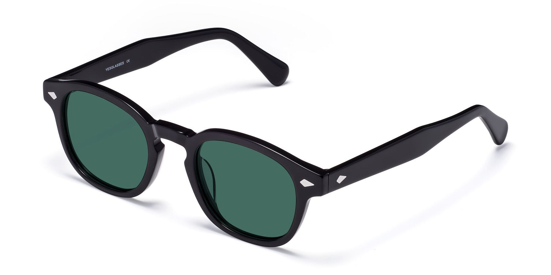 Angle of WALL-E in Black with Green Polarized Lenses