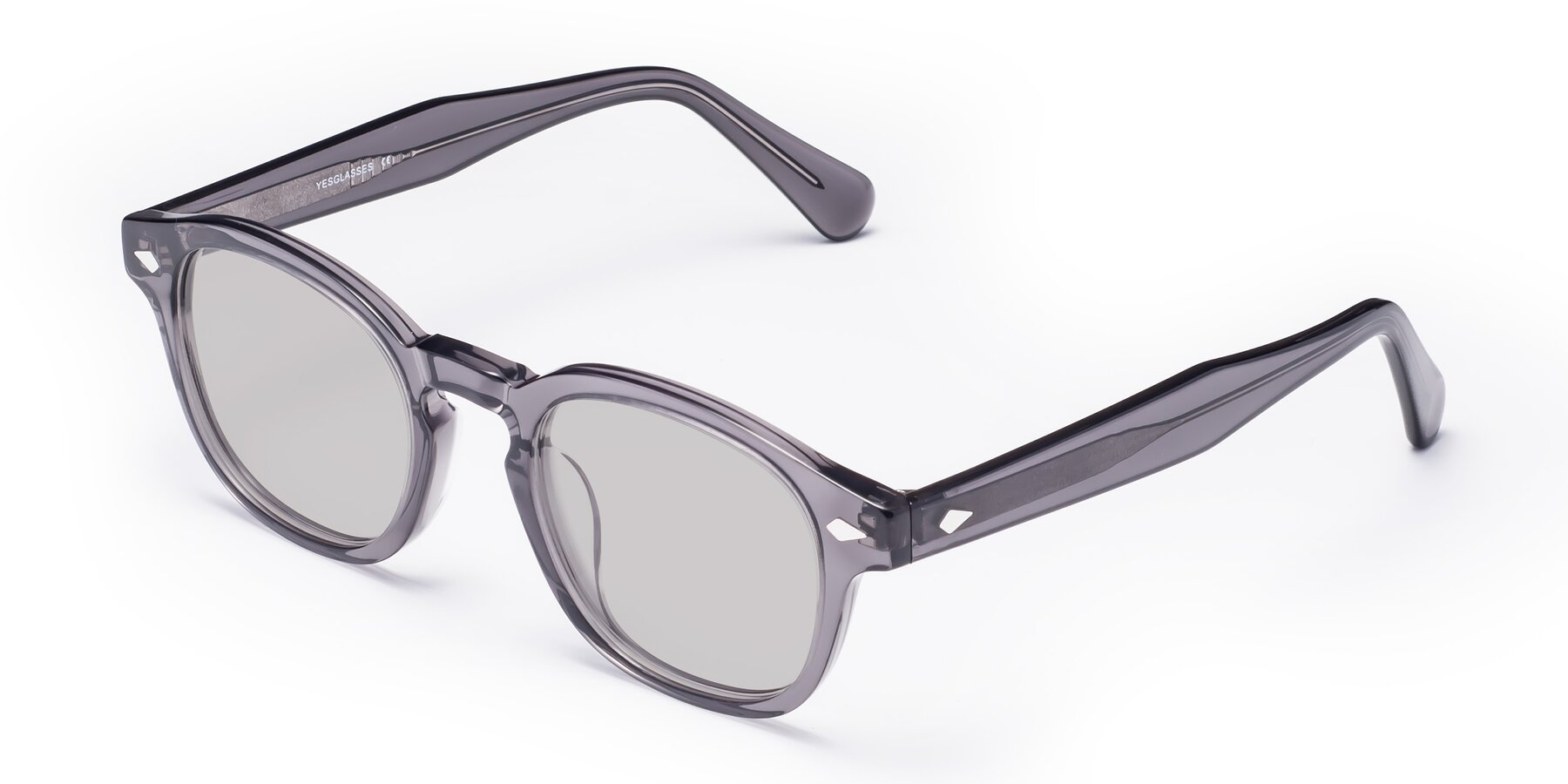 Angle of WALL-E in Translucent Gray with Light Gray Tinted Lenses