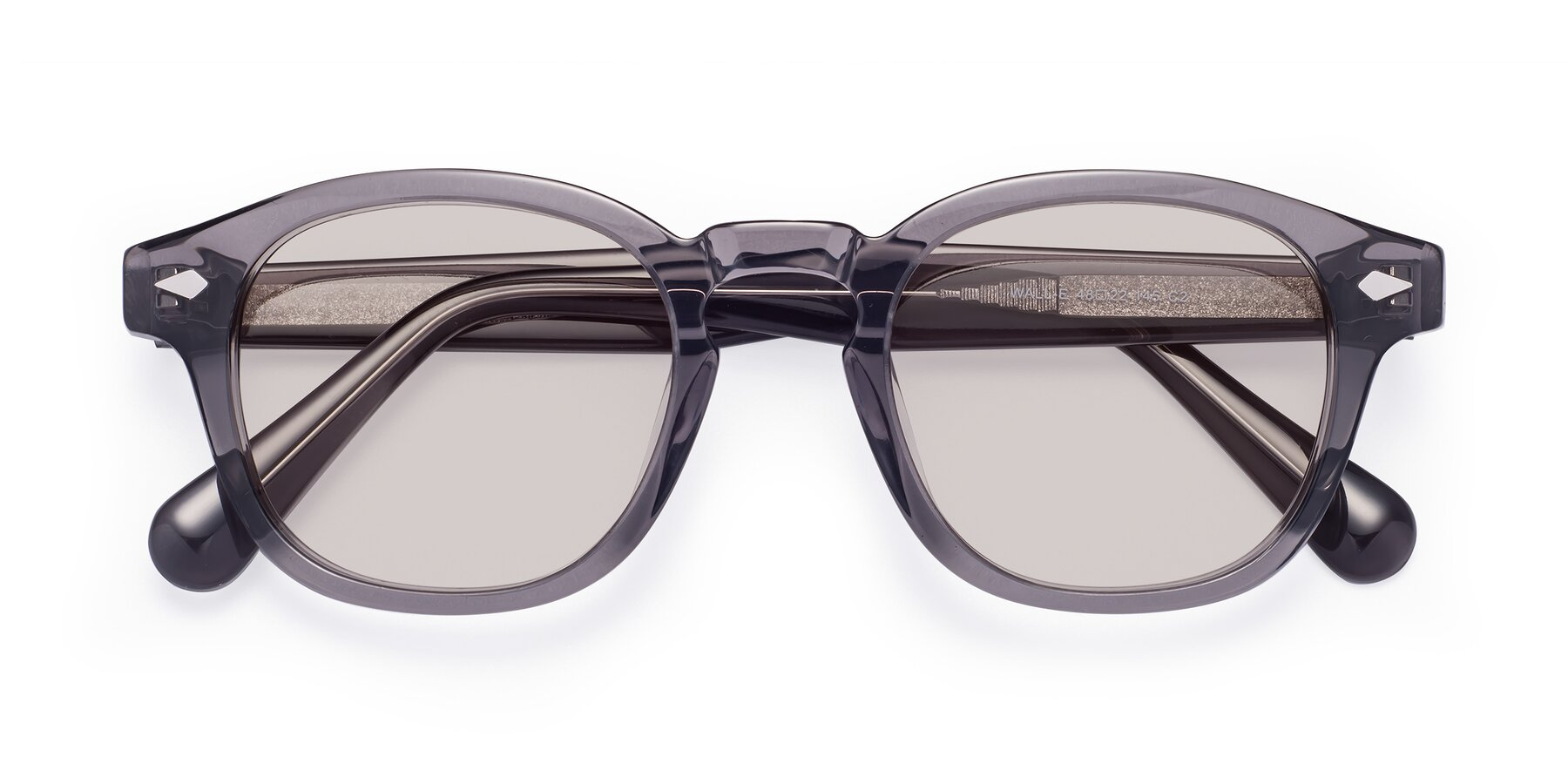Folded Front of WALL-E in Translucent Gray with Light Brown Tinted Lenses