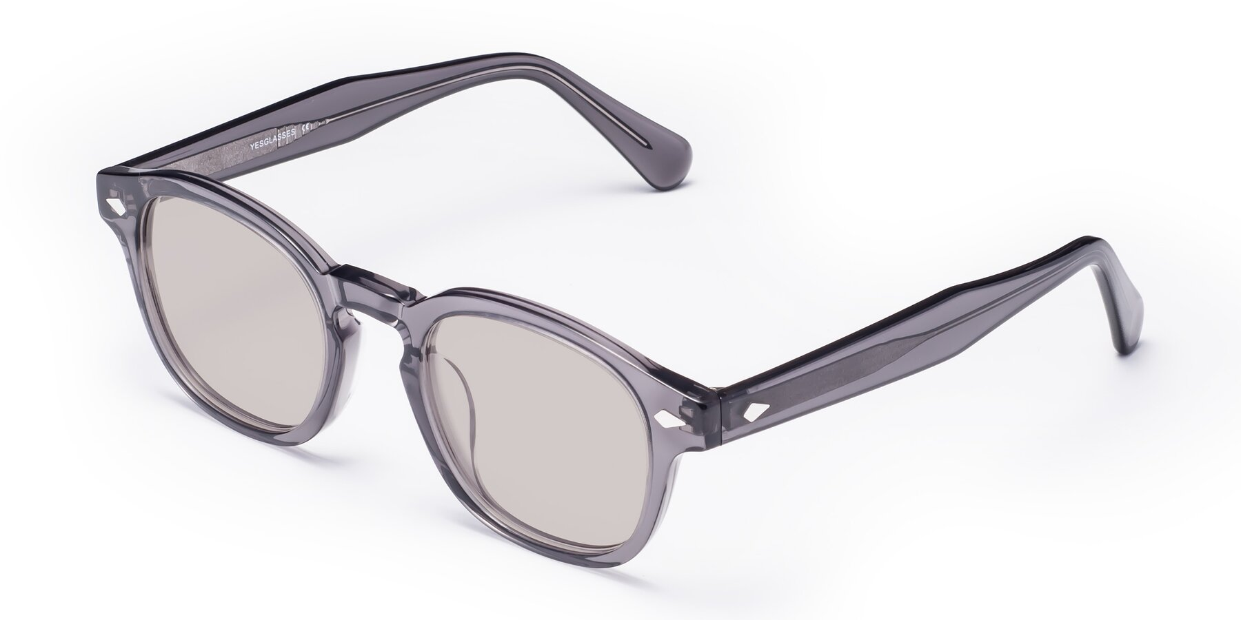 Angle of WALL-E in Translucent Gray with Light Brown Tinted Lenses