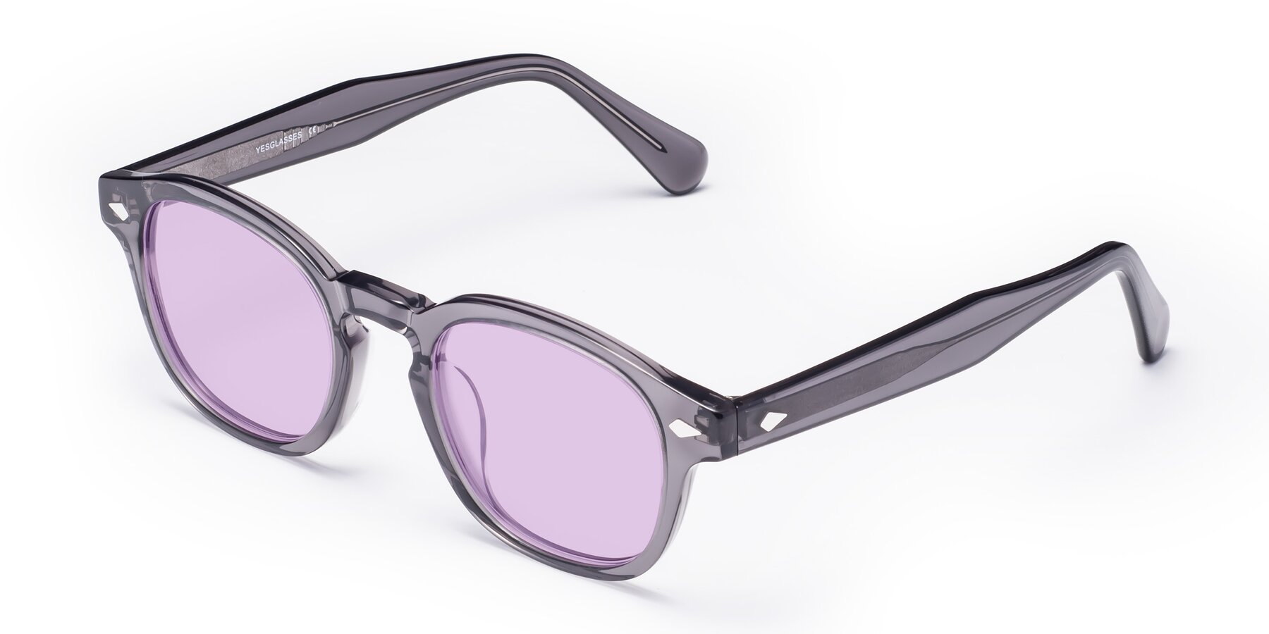 Angle of WALL-E in Translucent Gray with Light Purple Tinted Lenses