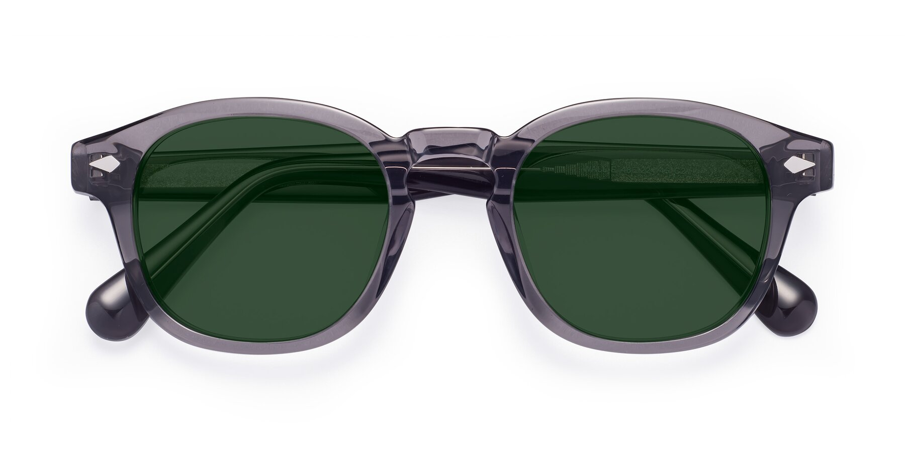 Folded Front of WALL-E in Translucent Gray with Green Tinted Lenses