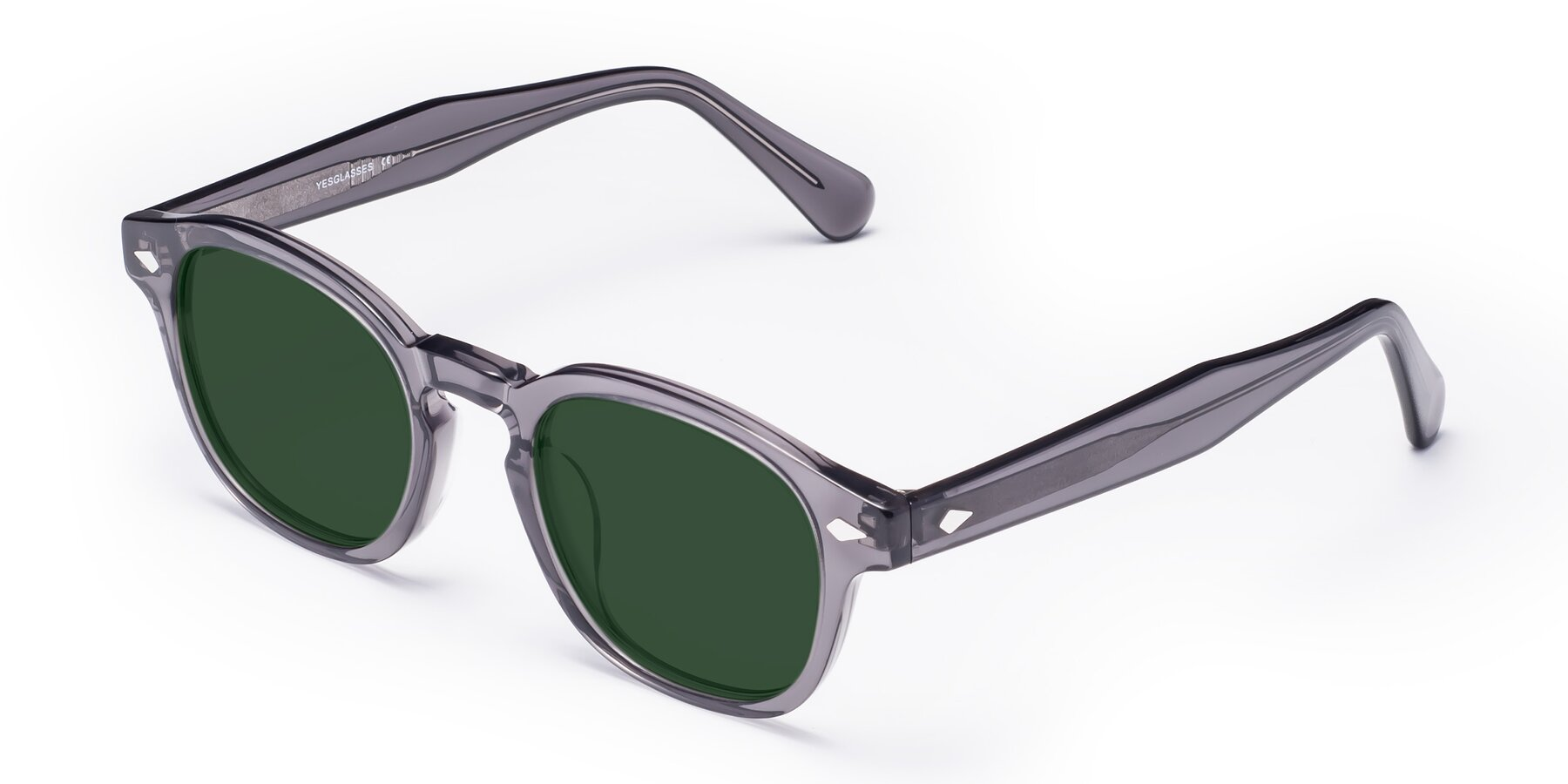 Angle of WALL-E in Translucent Gray with Green Tinted Lenses