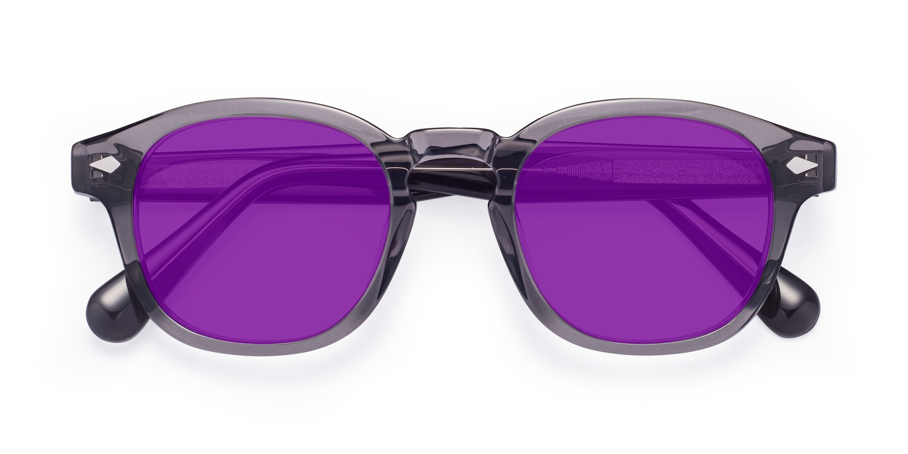 Folded Front of WALL-E in Translucent Gray with Purple Tinted Lenses