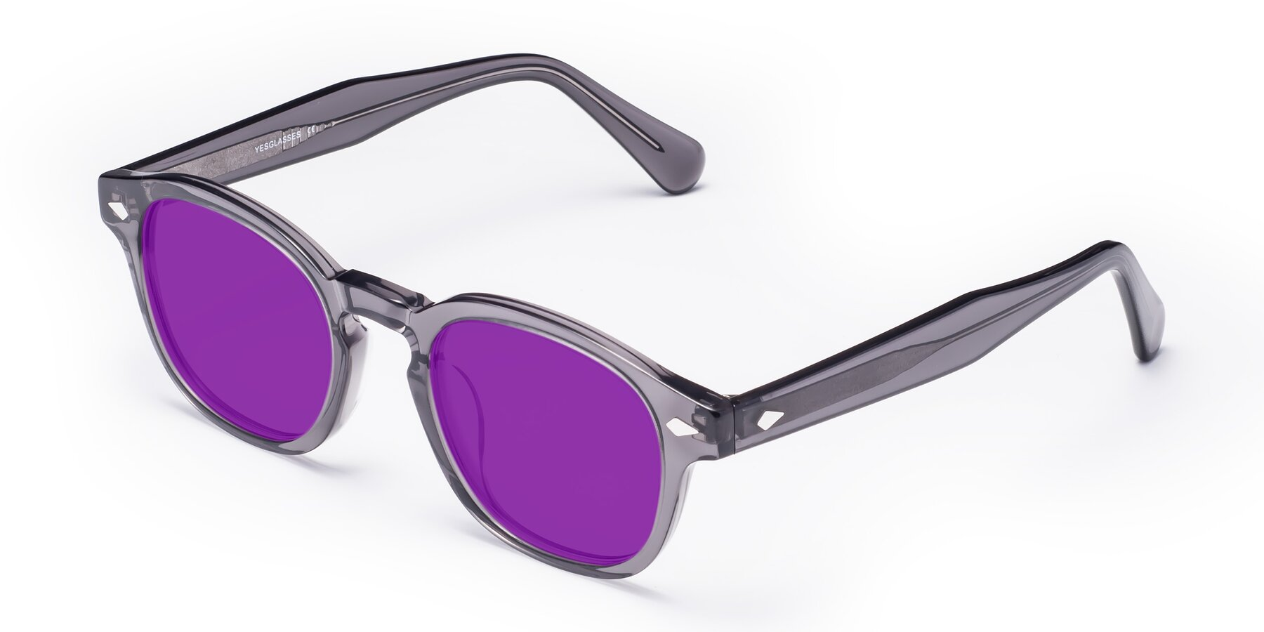 Angle of WALL-E in Translucent Gray with Purple Tinted Lenses