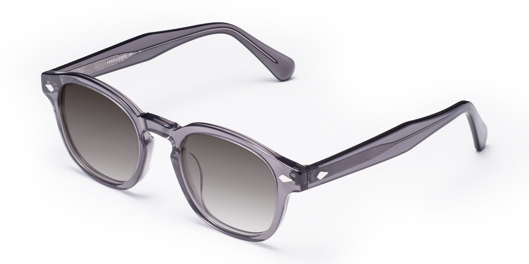 Angle of WALL-E in Translucent Gray with Gray Gradient Lenses