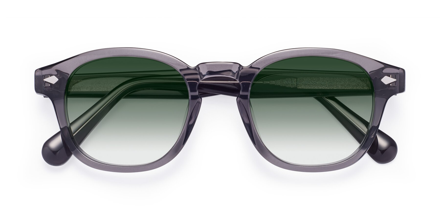 Folded Front of WALL-E in Translucent Gray with Green Gradient Lenses