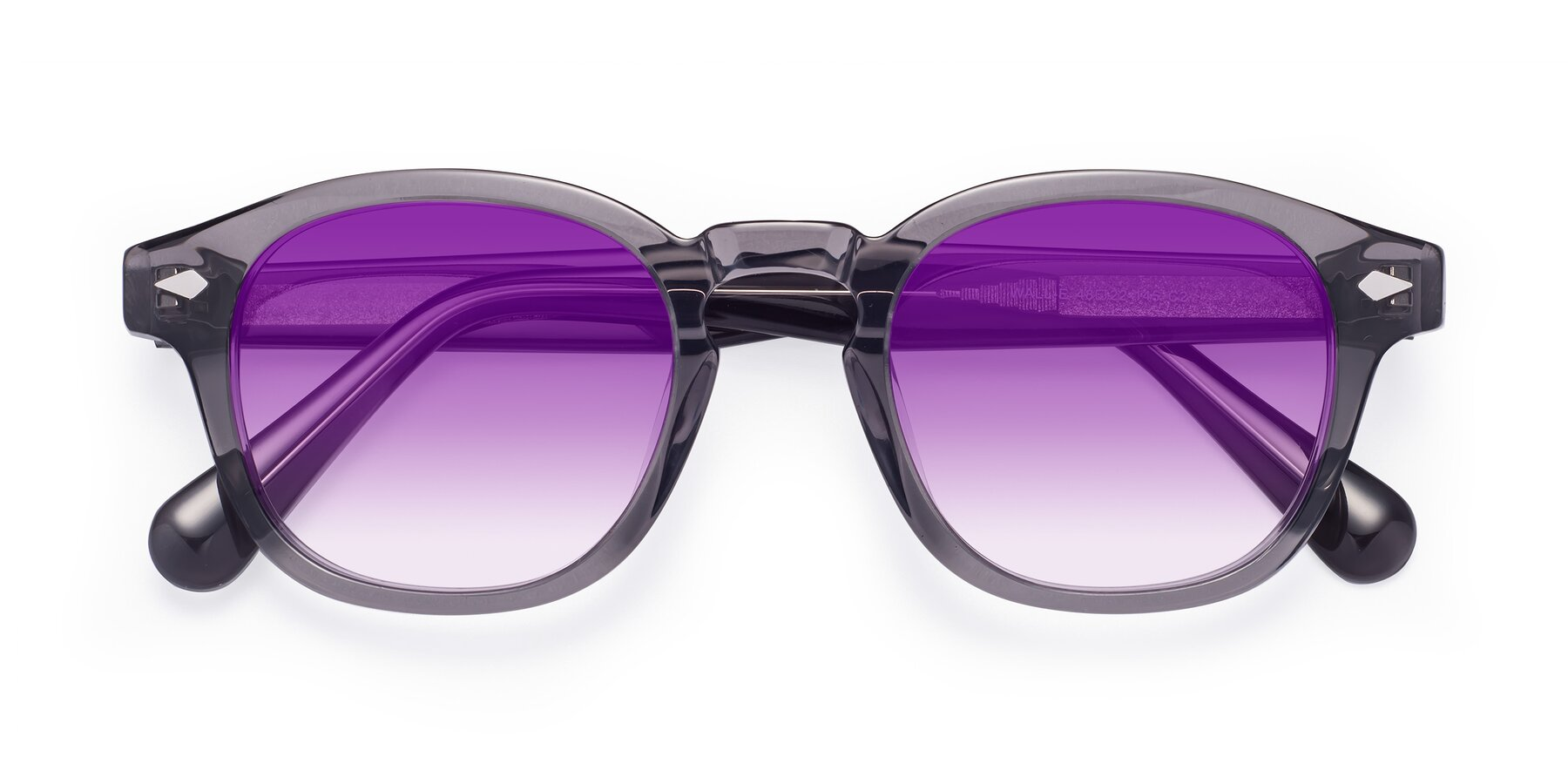 Folded Front of WALL-E in Translucent Gray with Purple Gradient Lenses
