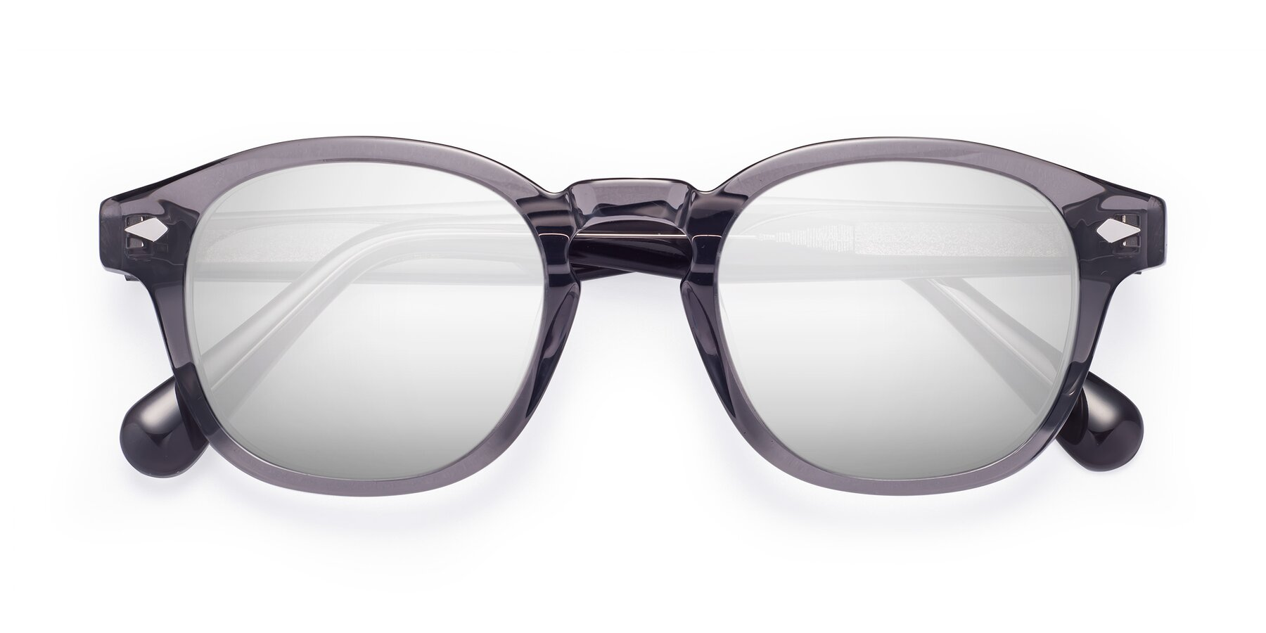 Folded Front of WALL-E in Translucent Gray with Silver Mirrored Lenses