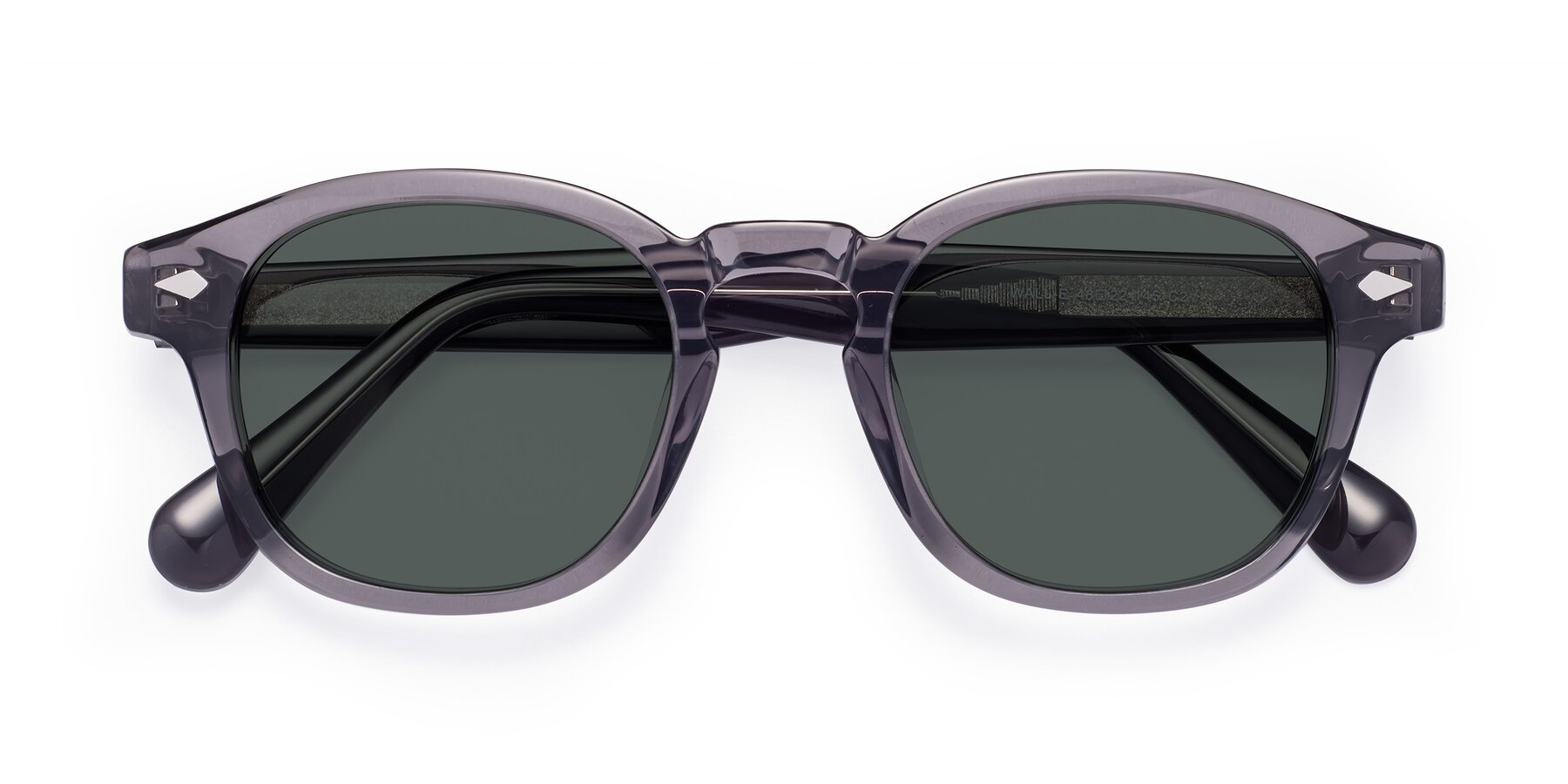 Folded Front of WALL-E in Translucent Gray with Gray Polarized Lenses