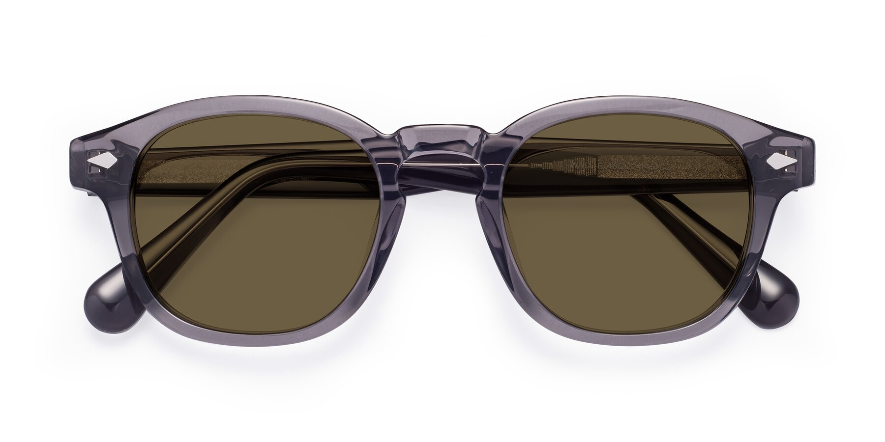Folded Front of WALL-E in Translucent Gray with Brown Polarized Lenses