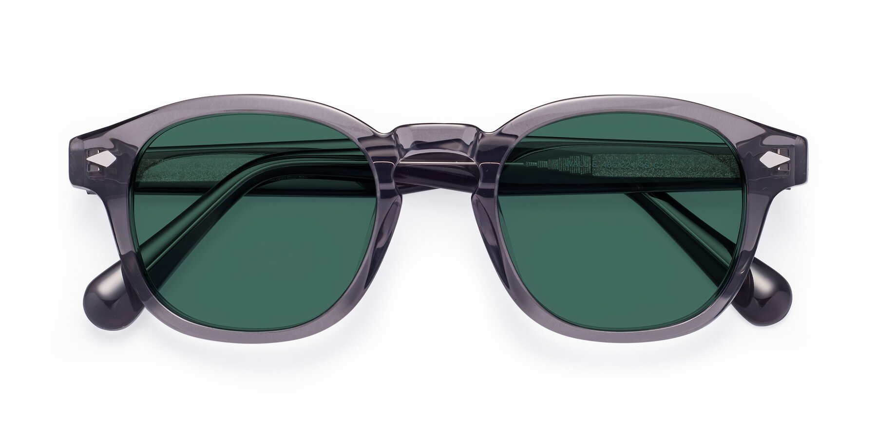 Folded Front of WALL-E in Translucent Gray with Green Polarized Lenses