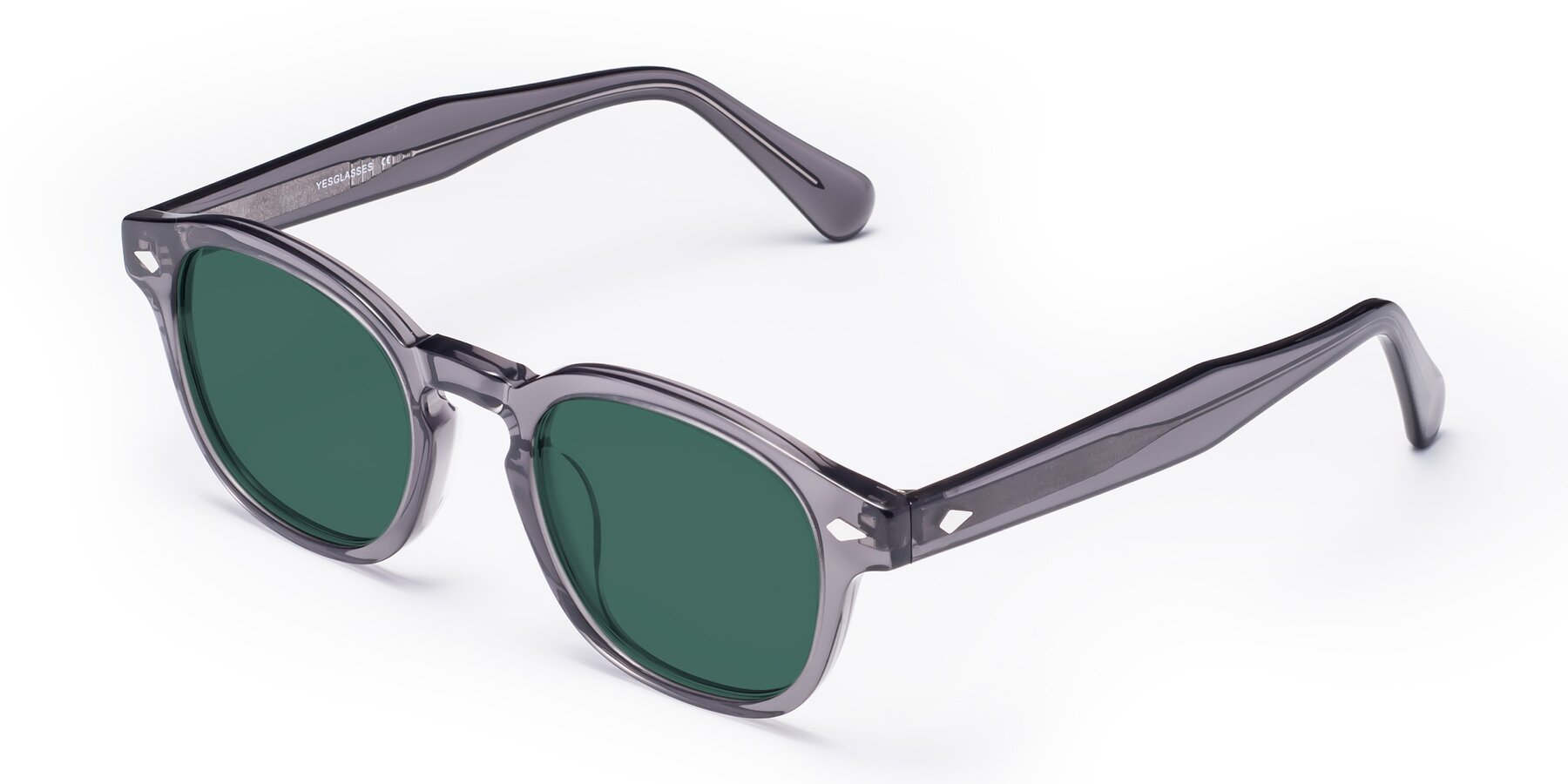 Angle of WALL-E in Translucent Gray with Green Polarized Lenses