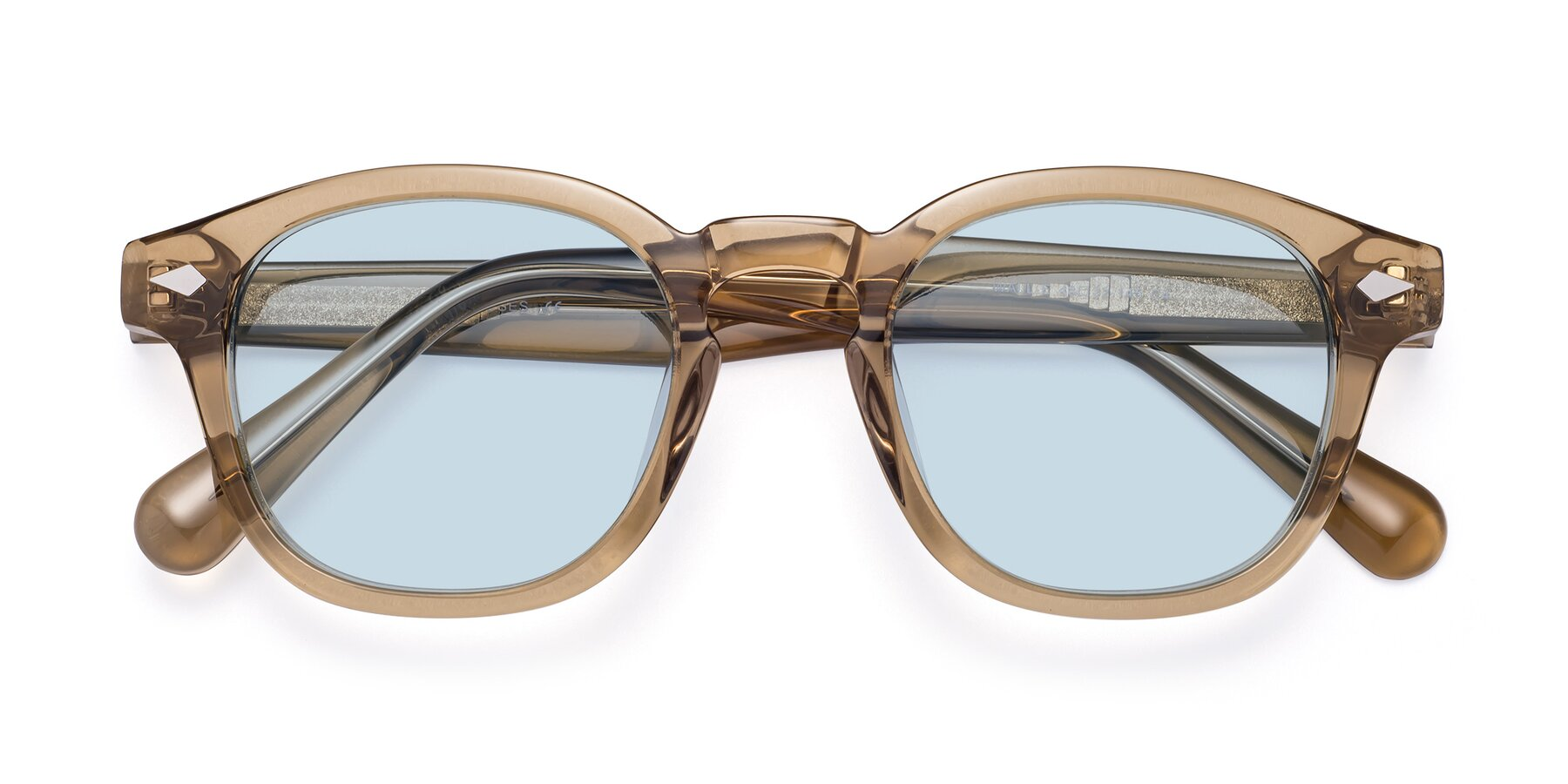 Folded Front of WALL-E in Champagne with Light Blue Tinted Lenses