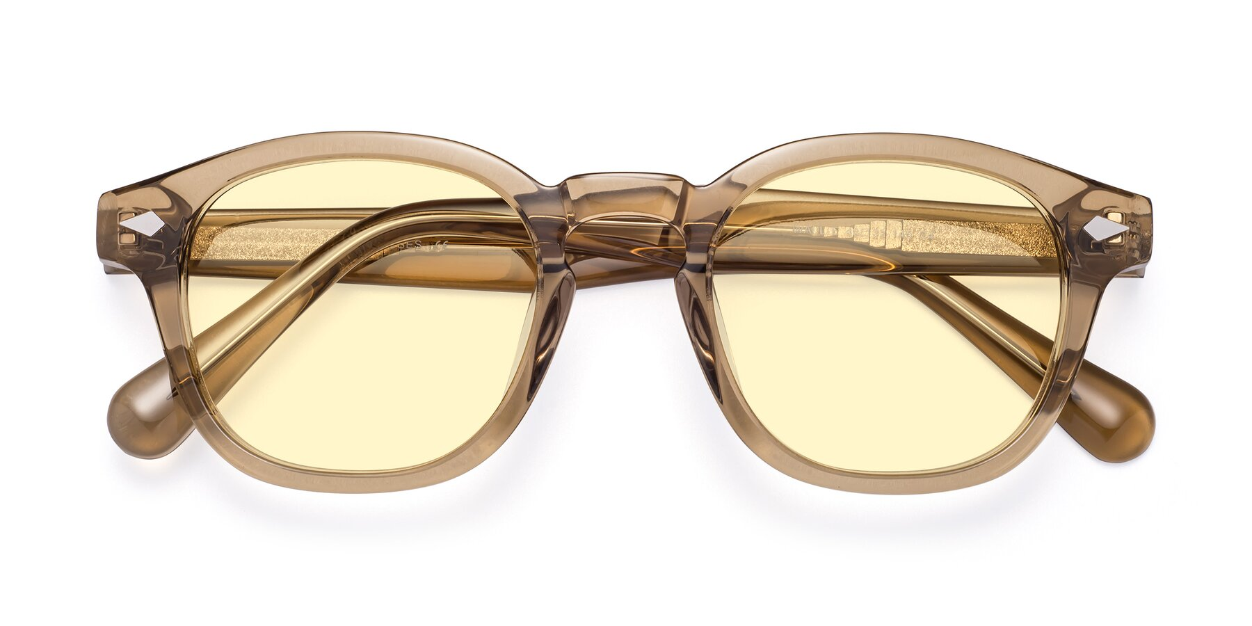 Folded Front of WALL-E in Champagne with Light Yellow Tinted Lenses