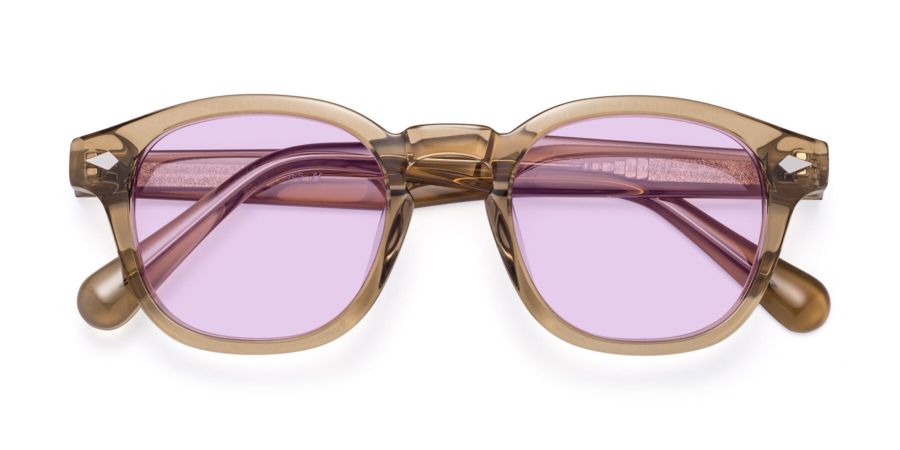 Folded Front of WALL-E in Champagne with Light Purple Tinted Lenses