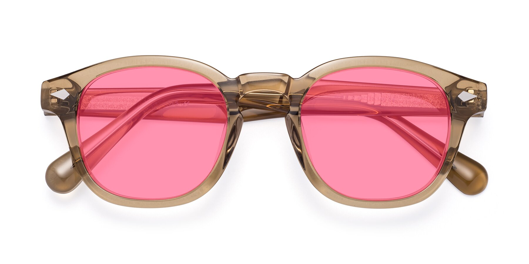 Folded Front of WALL-E in Champagne with Pink Tinted Lenses