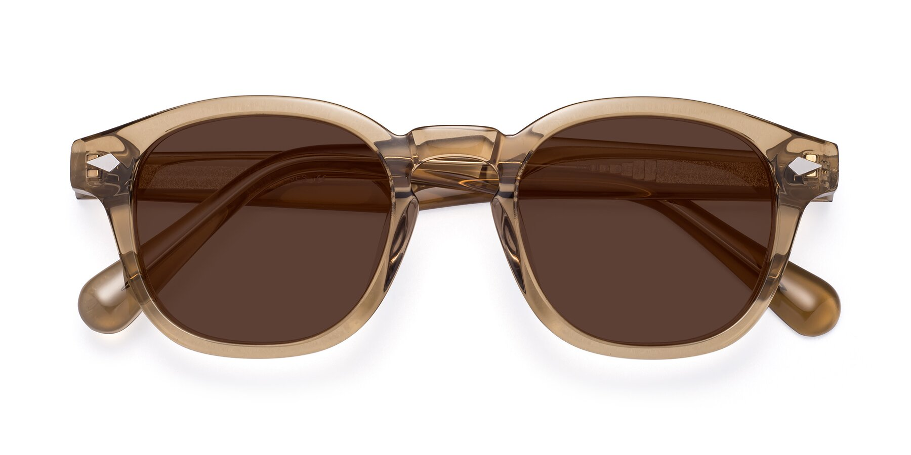 Folded Front of WALL-E in Champagne with Brown Tinted Lenses