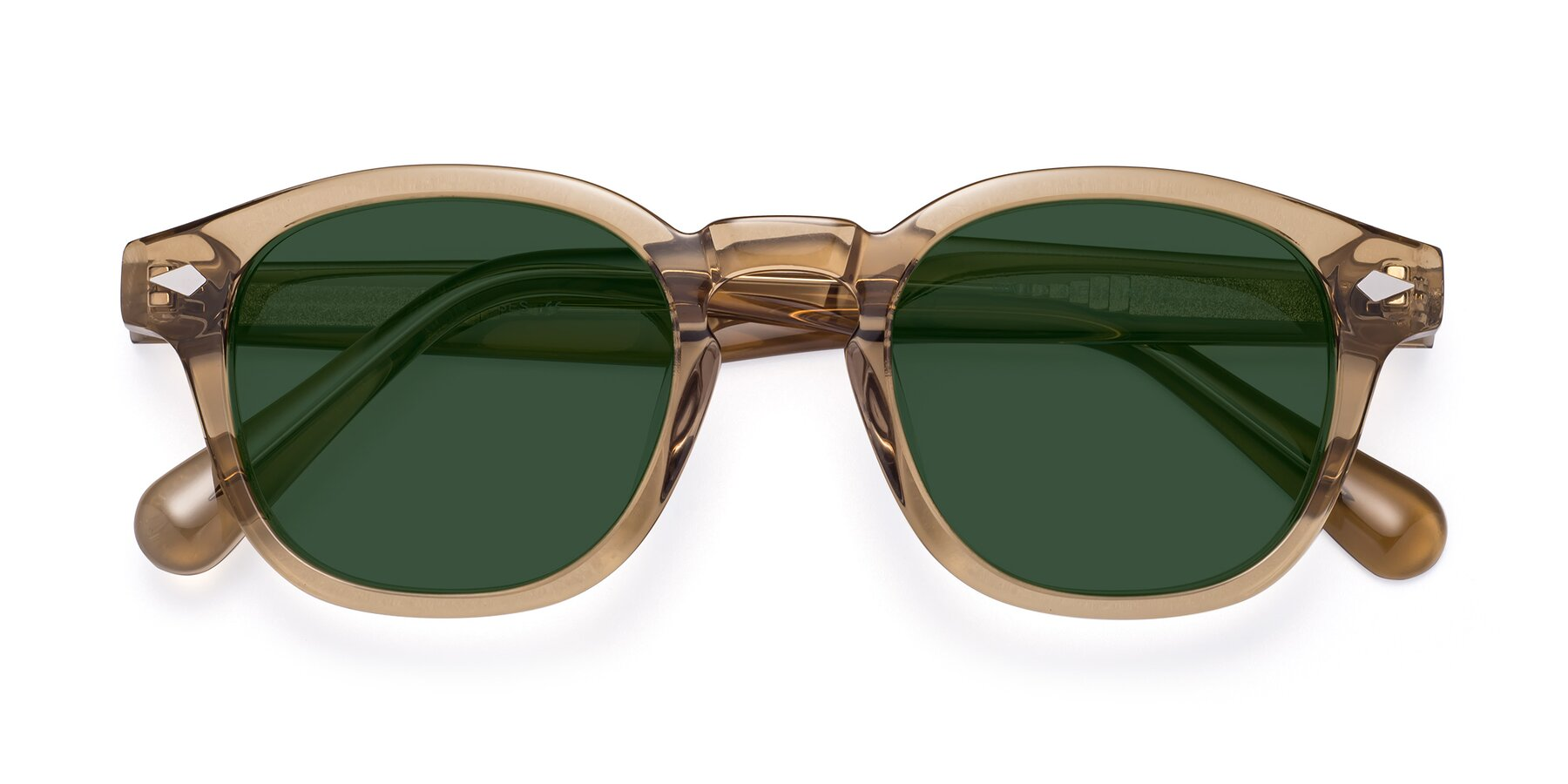Folded Front of WALL-E in Champagne with Green Tinted Lenses