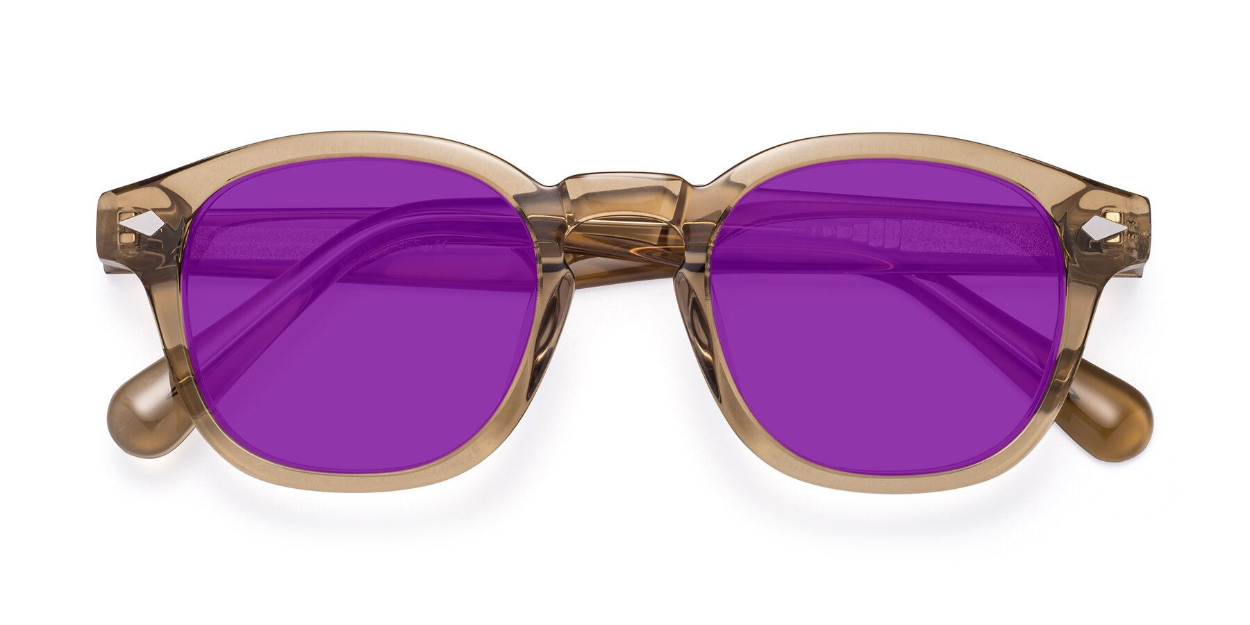 Folded Front of WALL-E in Champagne with Purple Tinted Lenses