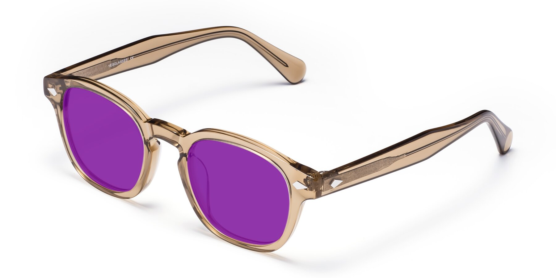 Angle of WALL-E in Champagne with Purple Tinted Lenses
