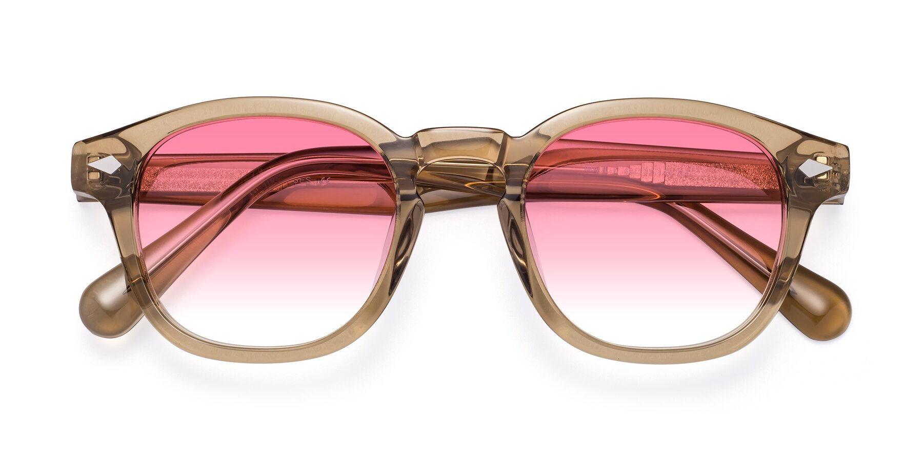 Folded Front of WALL-E in Champagne with Pink Gradient Lenses