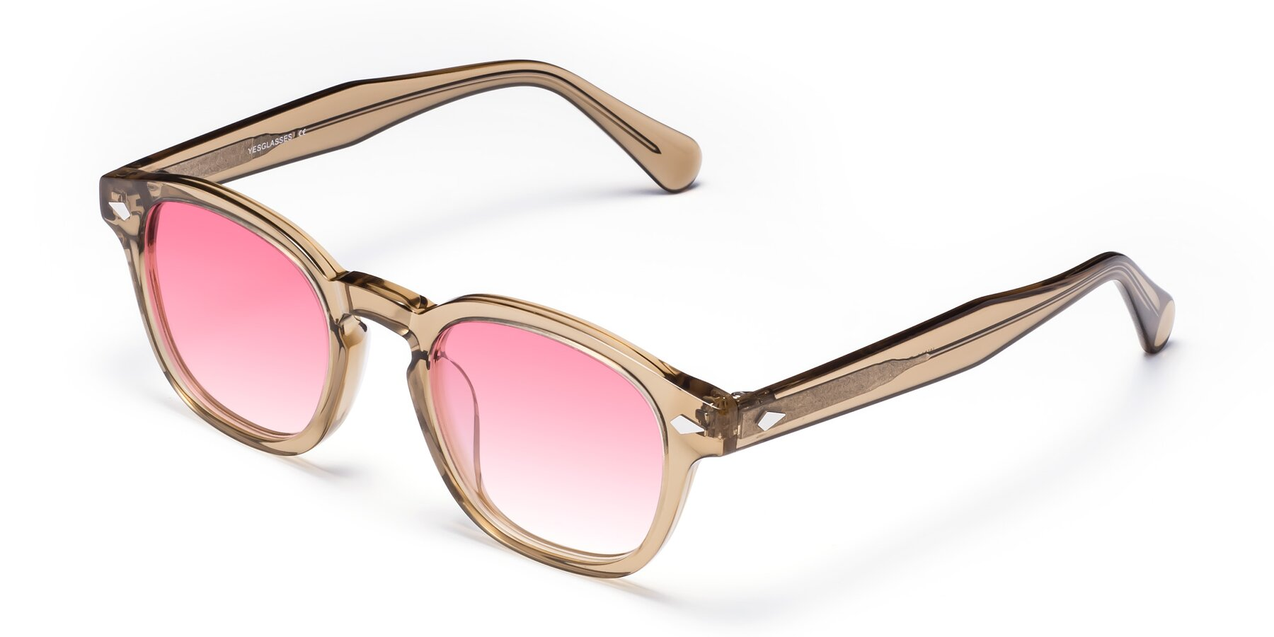 Angle of WALL-E in Champagne with Pink Gradient Lenses