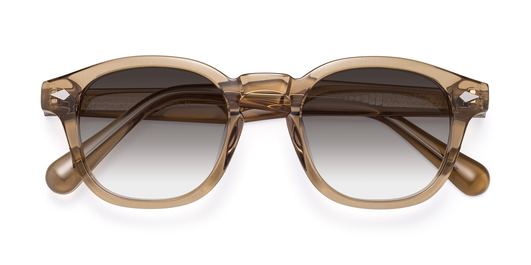Folded Front of WALL-E in Champagne with Gray Gradient Lenses