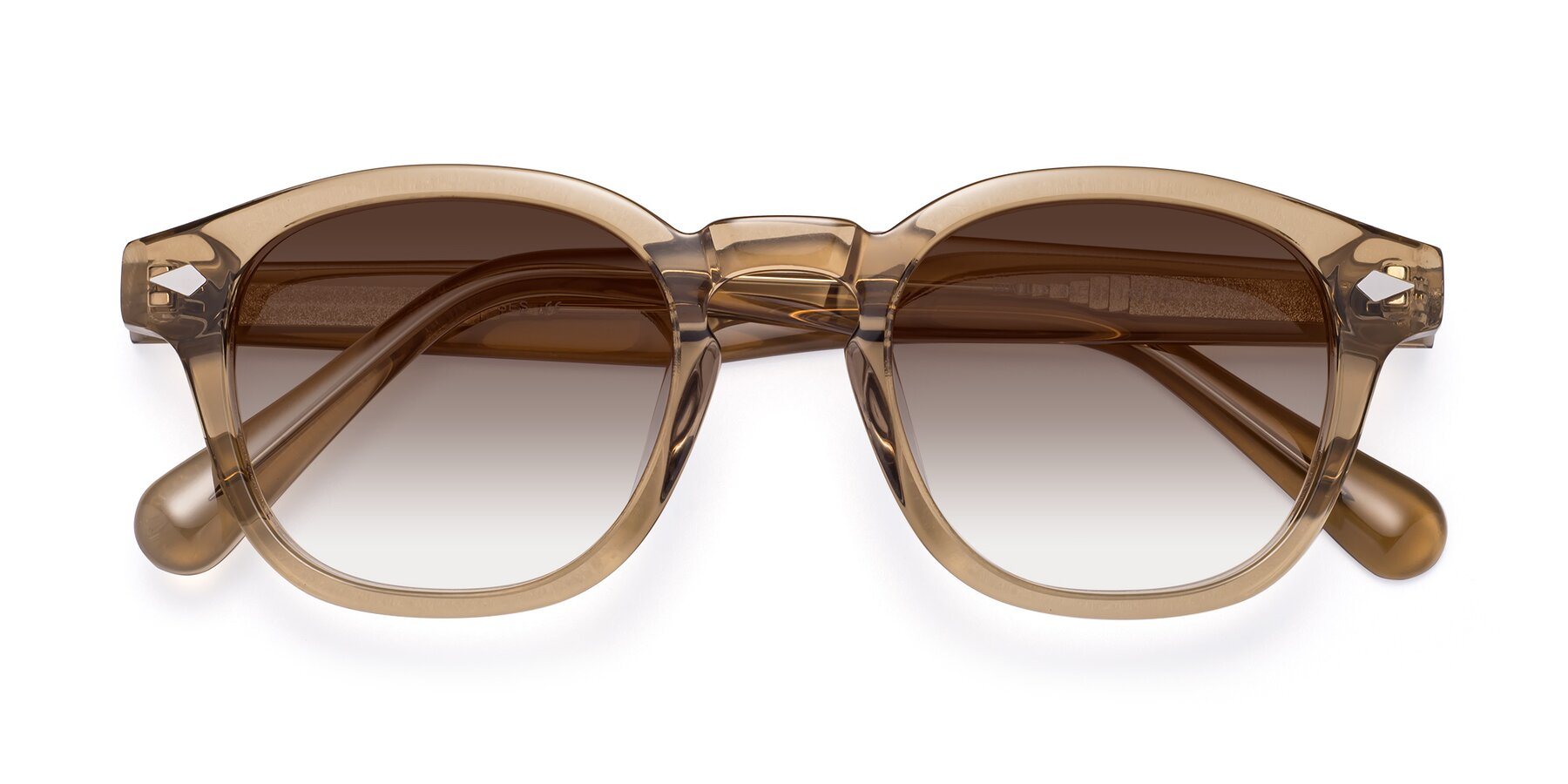 Folded Front of WALL-E in Champagne with Brown Gradient Lenses