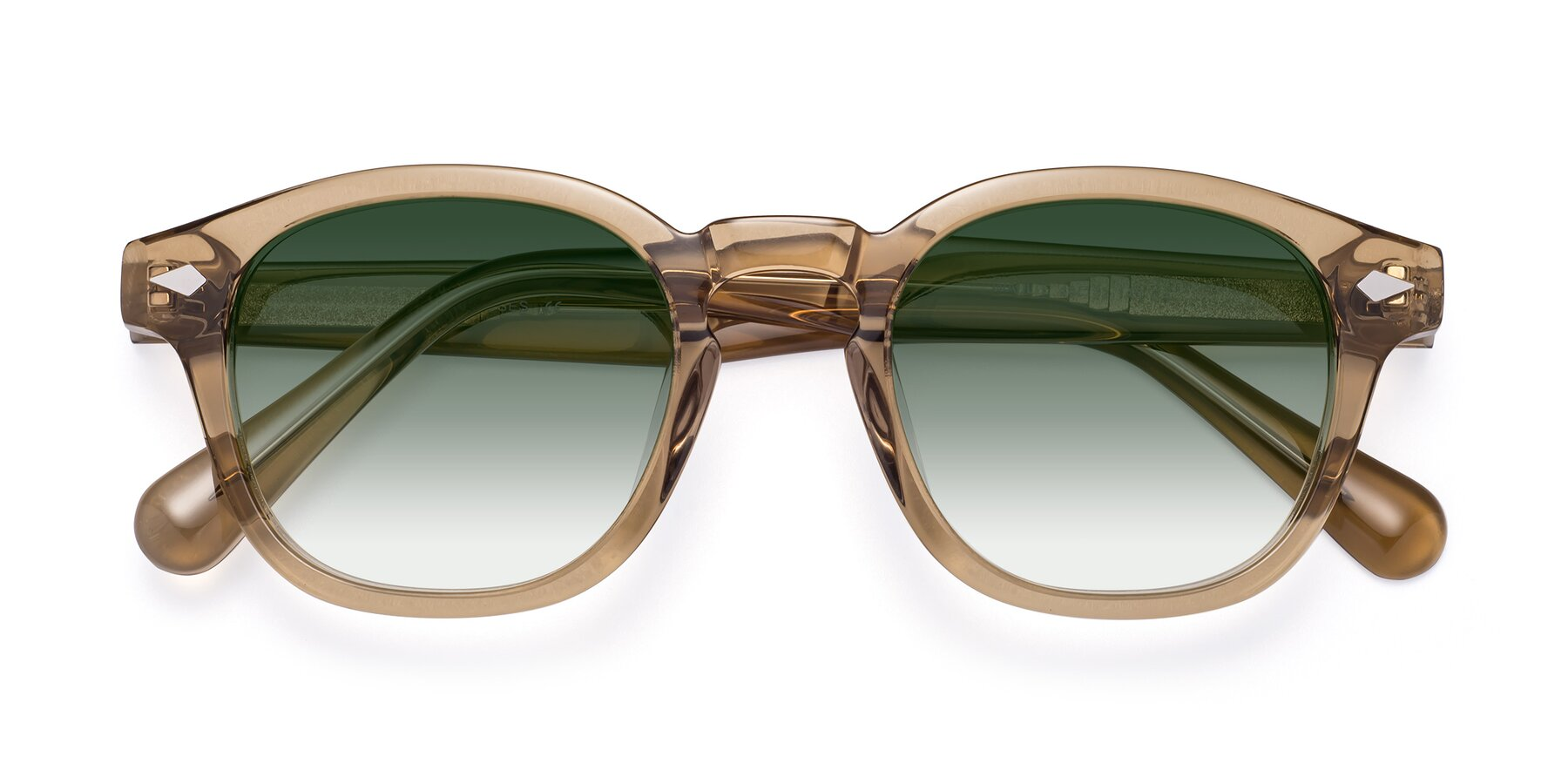 Folded Front of WALL-E in Champagne with Green Gradient Lenses