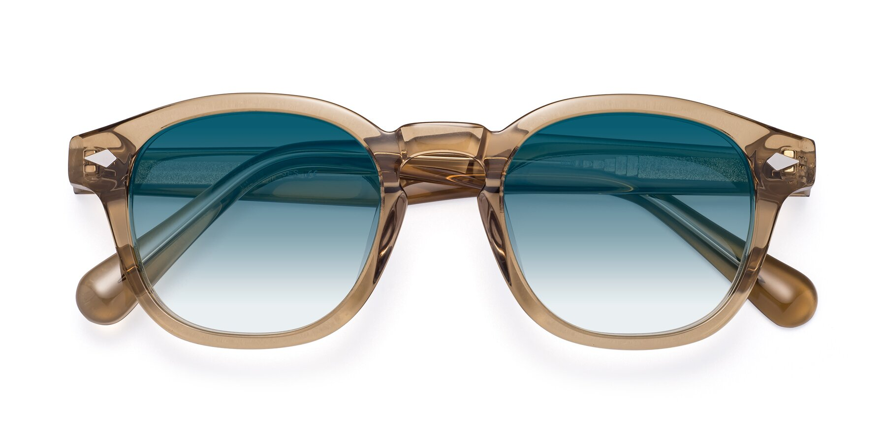 Folded Front of WALL-E in Champagne with Blue Gradient Lenses