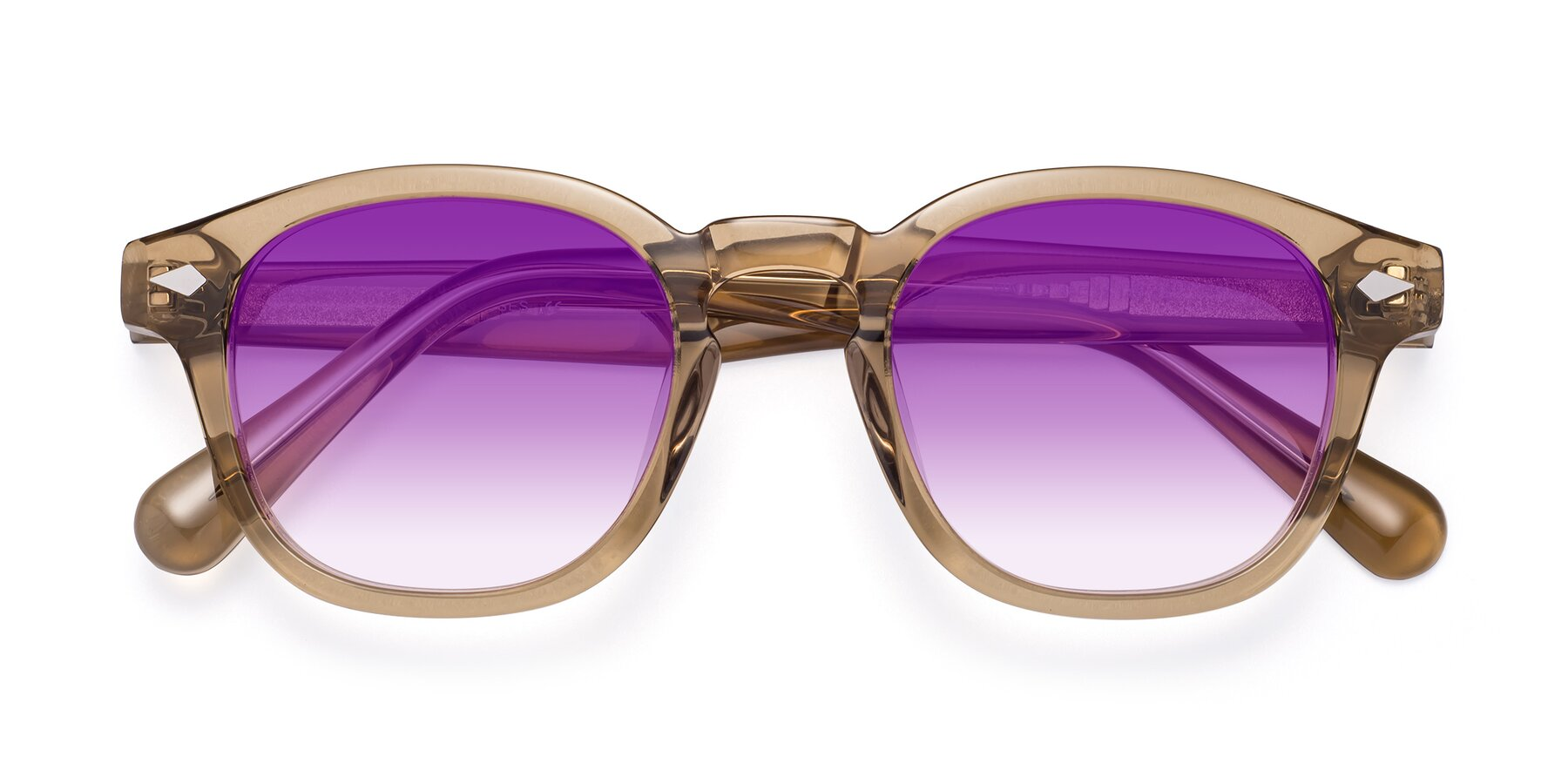 Folded Front of WALL-E in Champagne with Purple Gradient Lenses