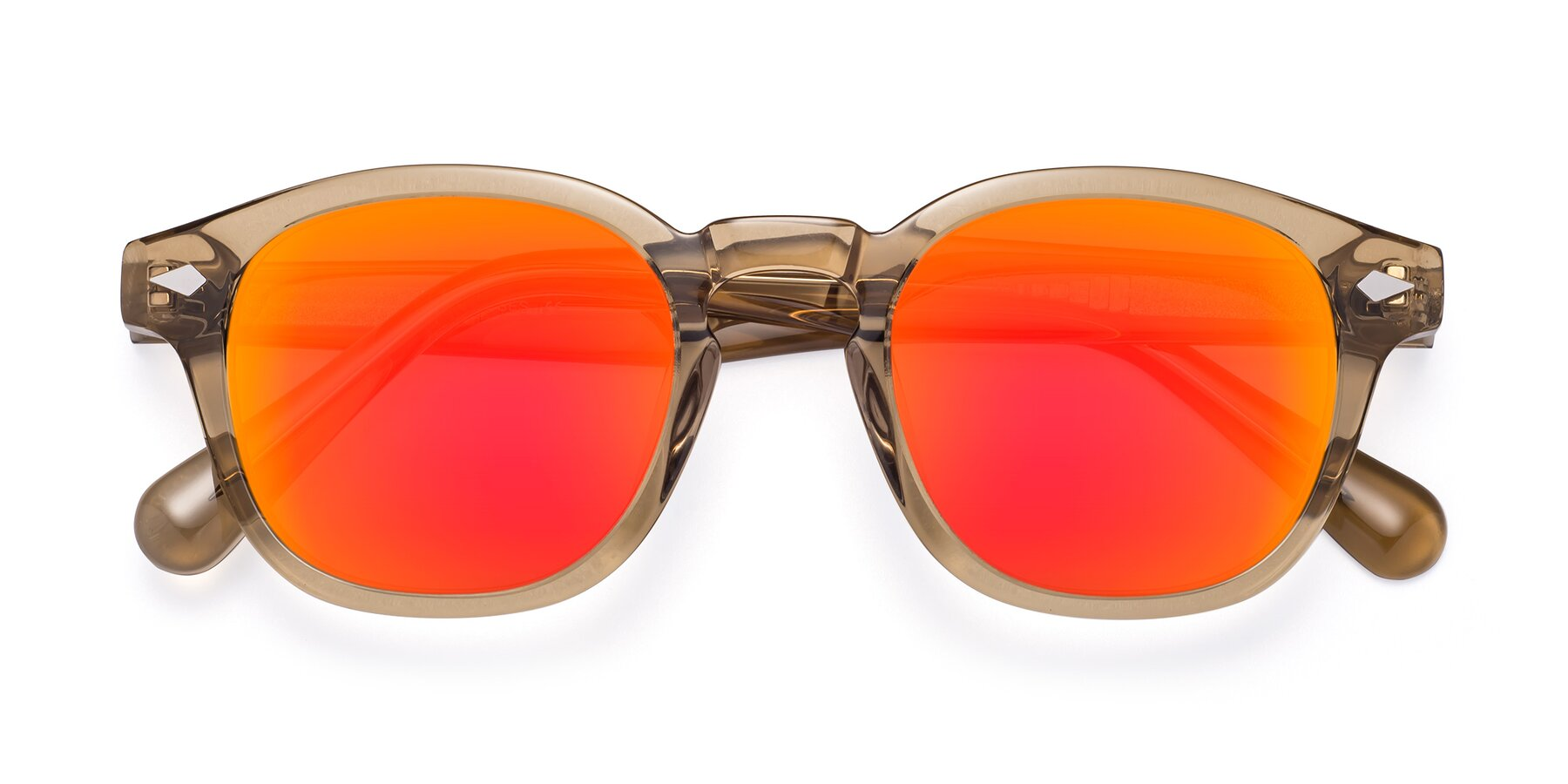 Folded Front of WALL-E in Champagne with Red Gold Mirrored Lenses