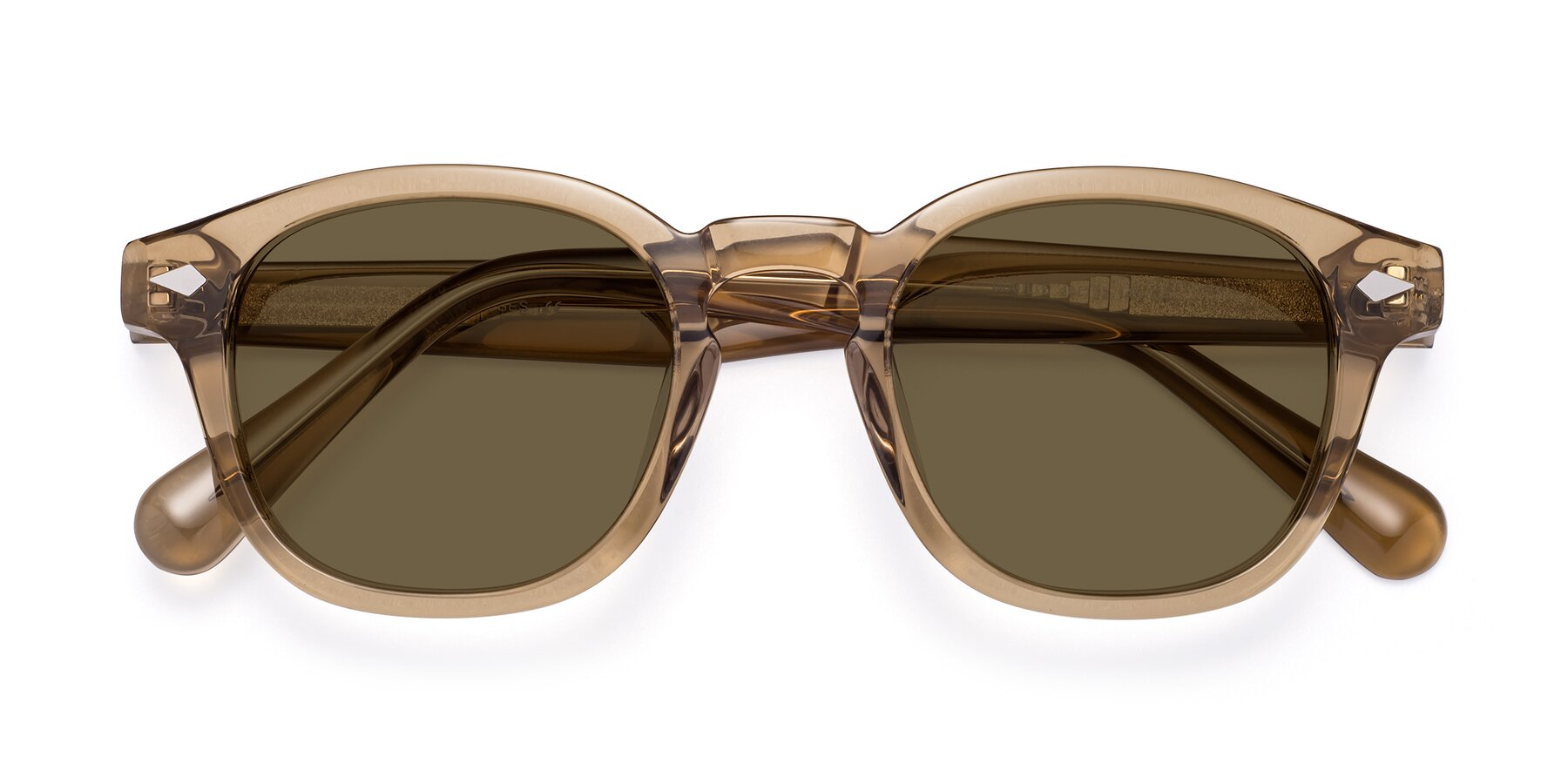 Folded Front of WALL-E in Champagne with Brown Polarized Lenses