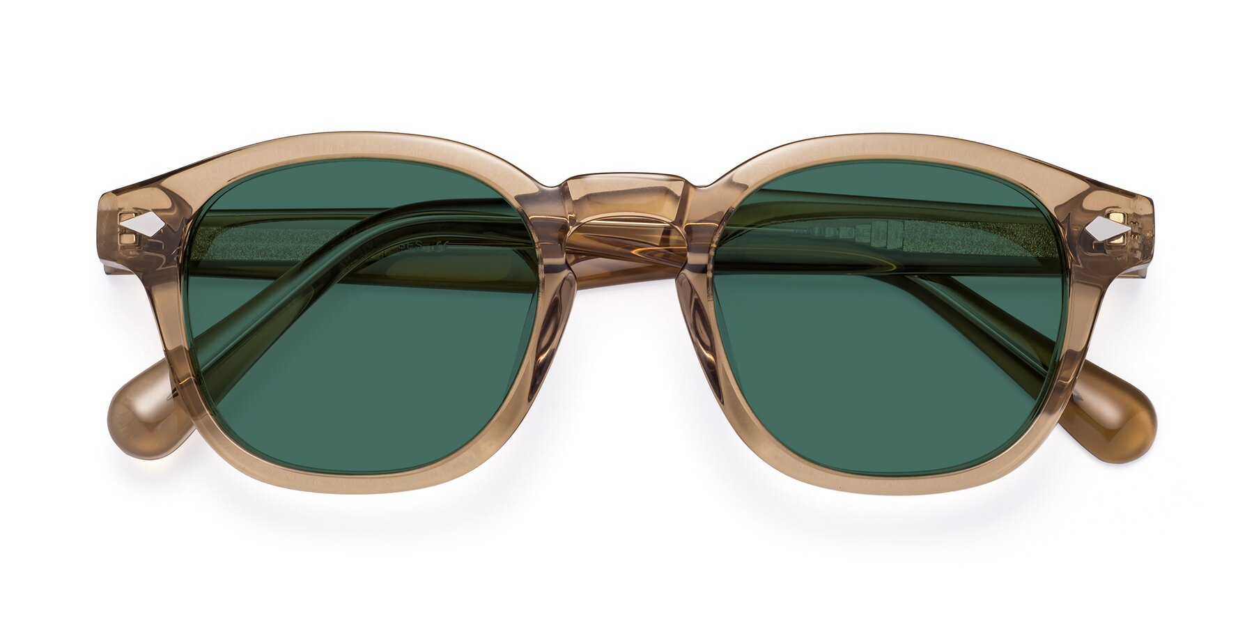 Folded Front of WALL-E in Champagne with Green Polarized Lenses