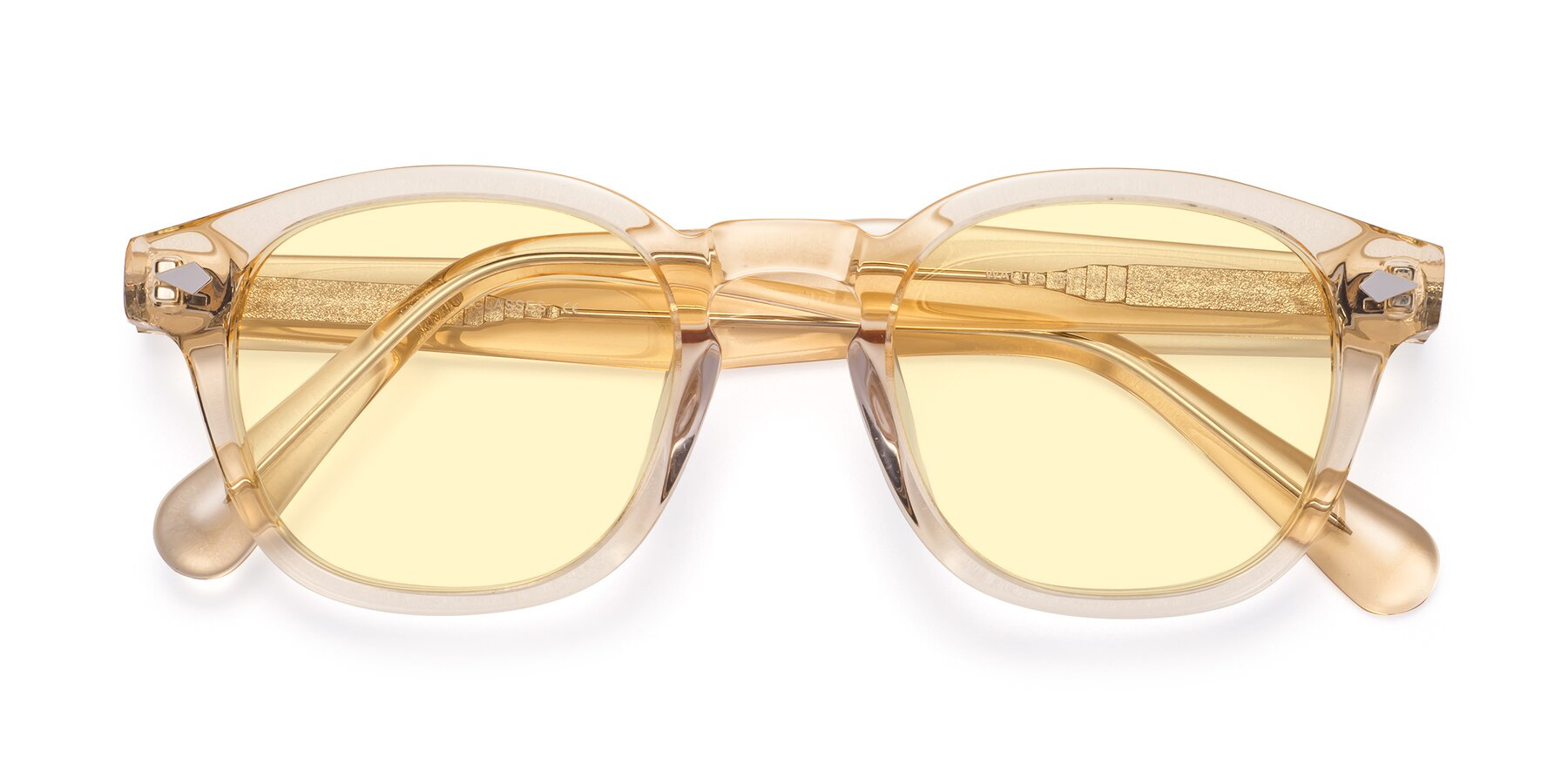 Folded Front of WALL-E in Translucent Brown with Light Yellow Tinted Lenses